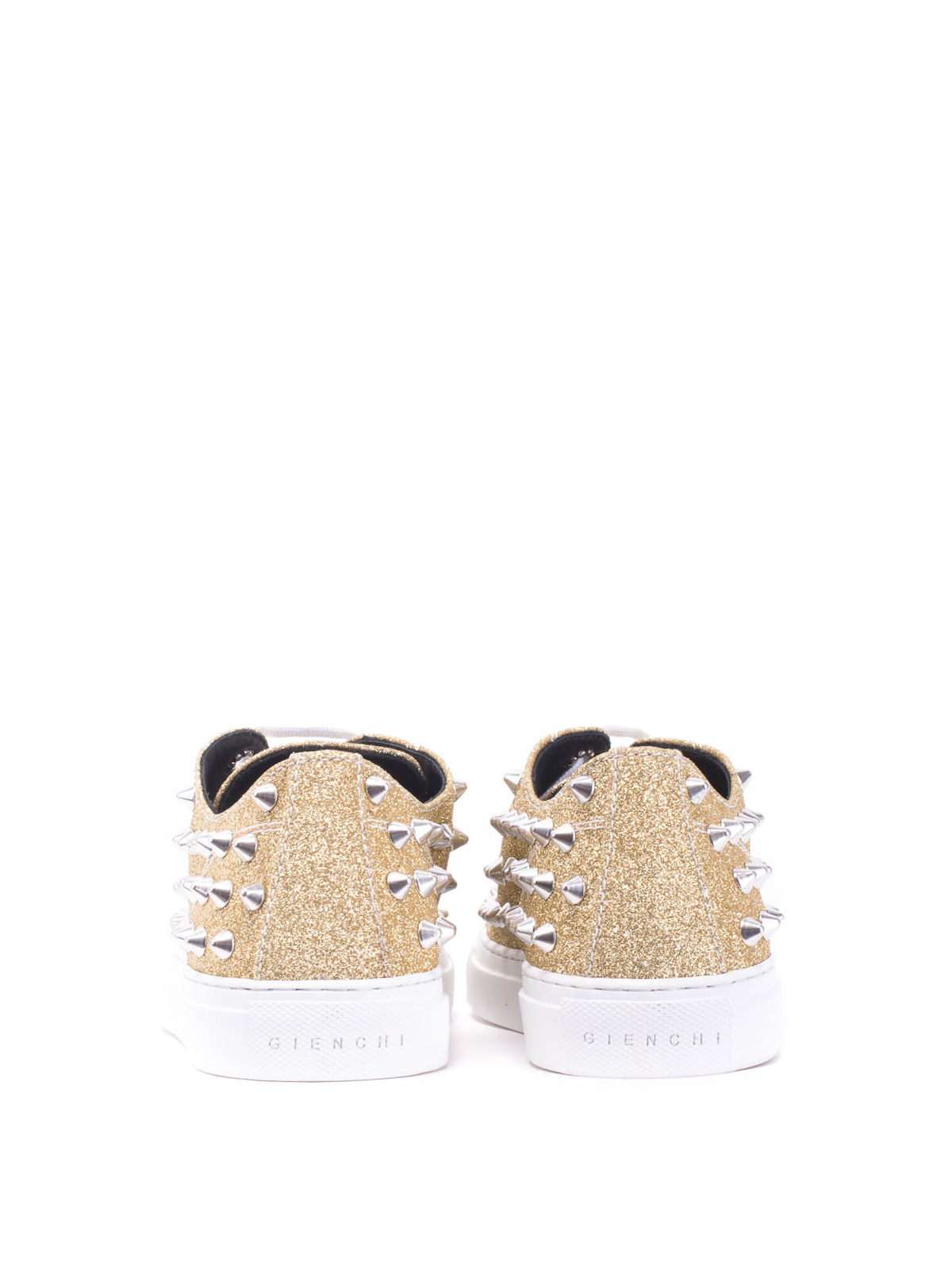 detailing 82c57 3ae35 Gienchi - Studded low-top glitter sneakers - اسپرت،اسنیکرز ...
