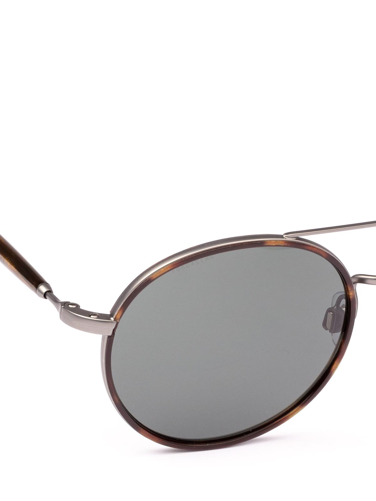 de4ef7b3ab6d iKRIX GIORGIO ARMANI  sunglasses - Dark havana and gunmetal round sunglasses