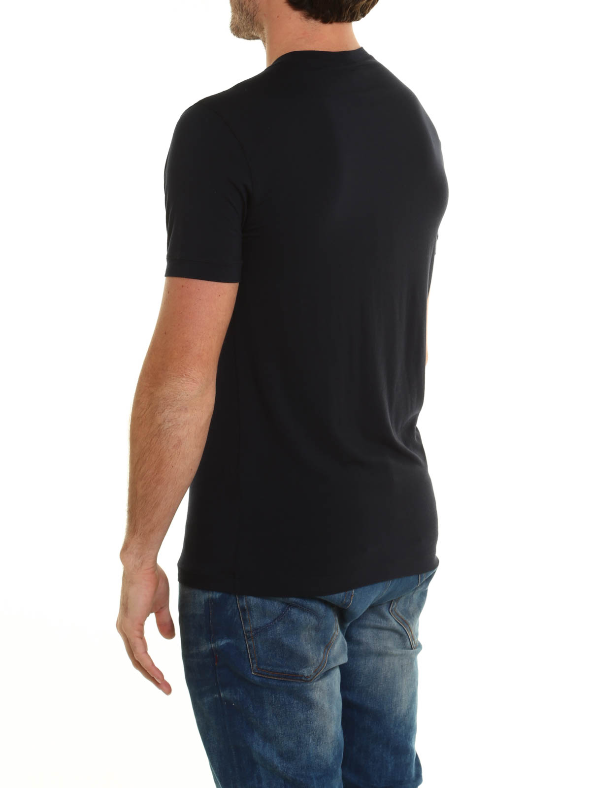 2b5f5da573 Giorgio Armani - Logo signature jersey T-shirt - t-shirts ...