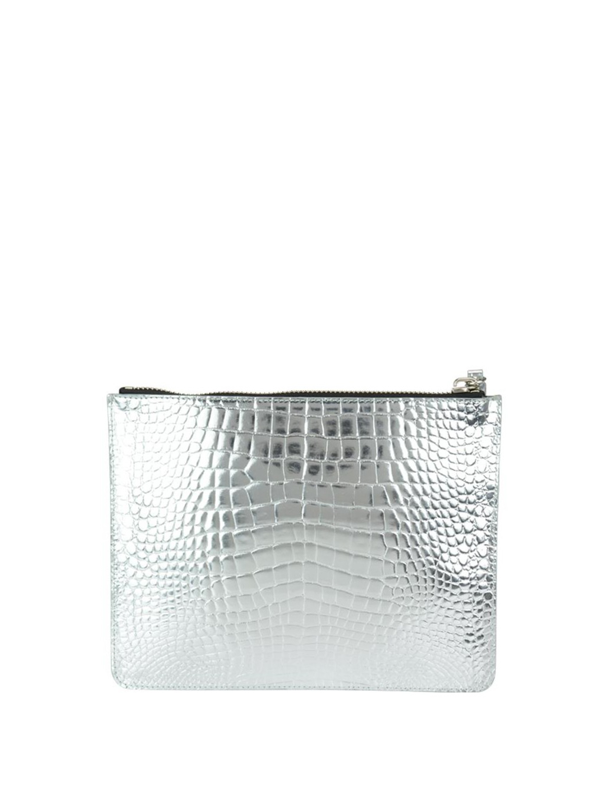 Giuseppe Zanotti Gold croco print leather pouch hxT2vv