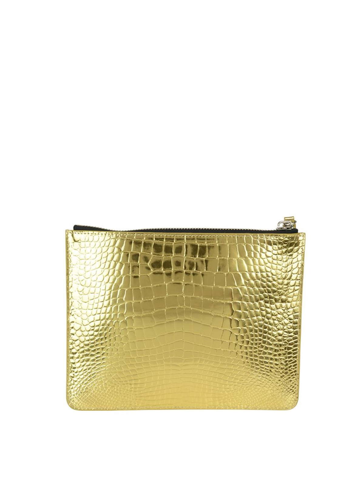 Giuseppe Zanotti Gold croco print leather pouch 1GYbLDbK1s