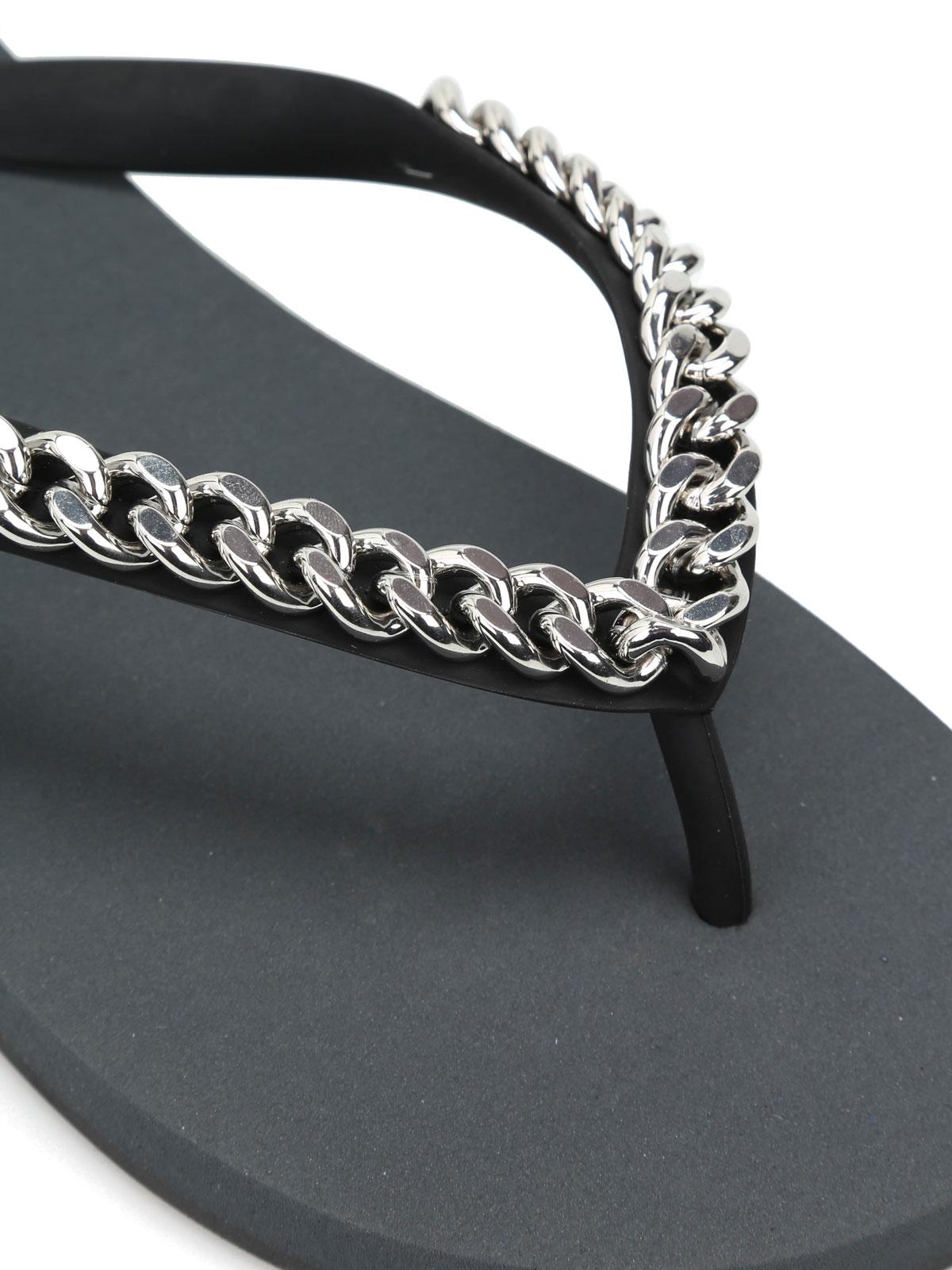 64d1e0373b00f iKRIX GIUSEPPE ZANOTTI: flip flops - Sunset chain detail flip flops