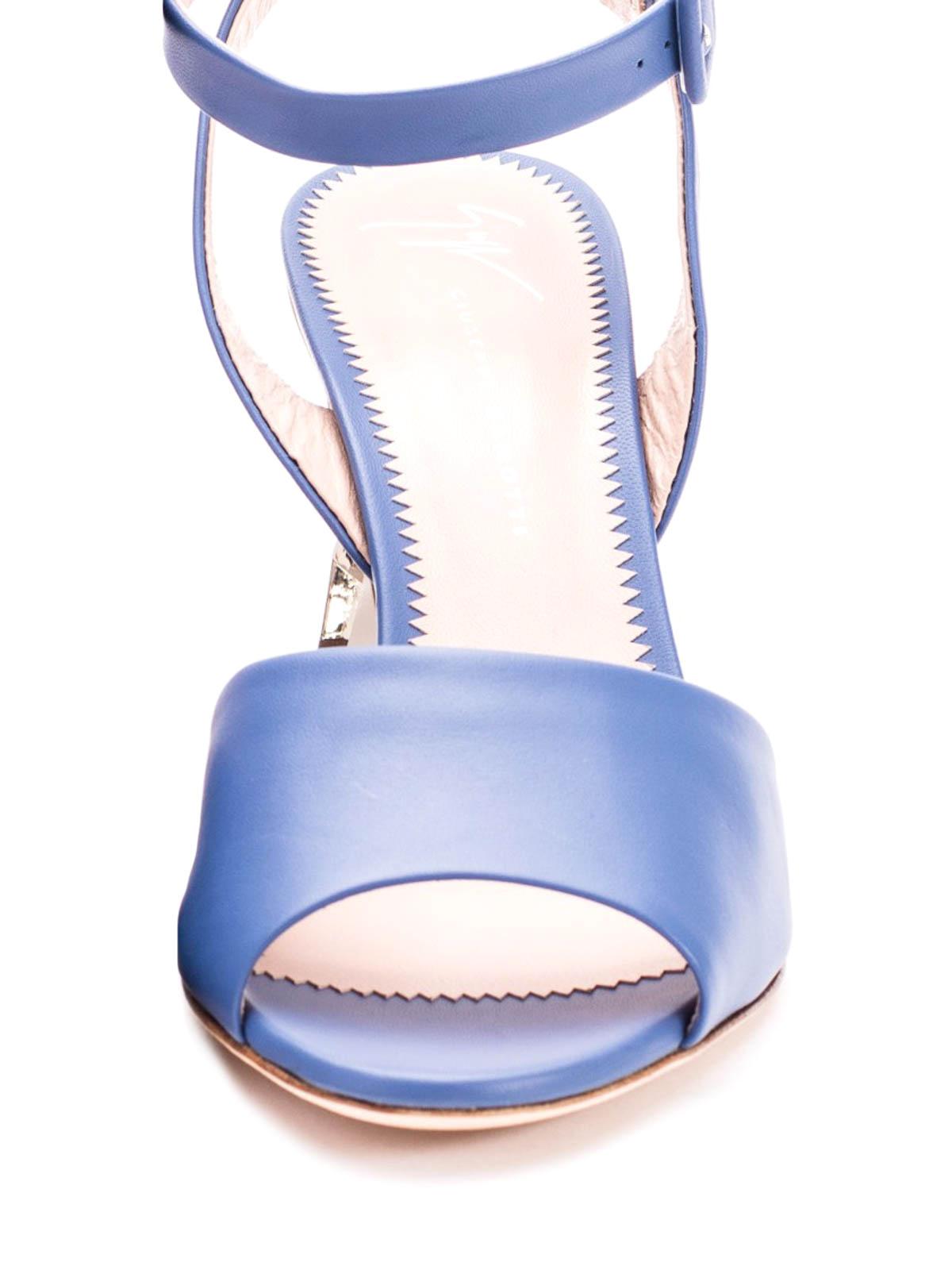f570d847893 Giuseppe Zanotti - Sculpture heel leather slingback sandals ...