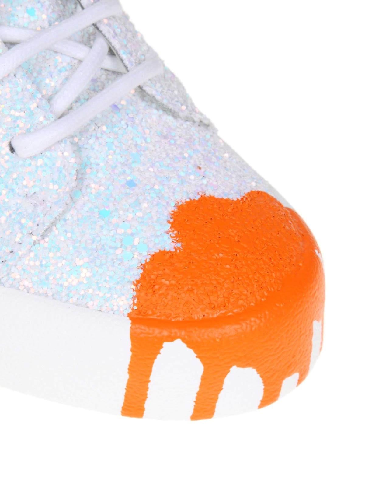 f7fcb43be0f70 iKRIX GIUSEPPE ZANOTTI: trainers - Arrie paint effect glitter leather  sneakers