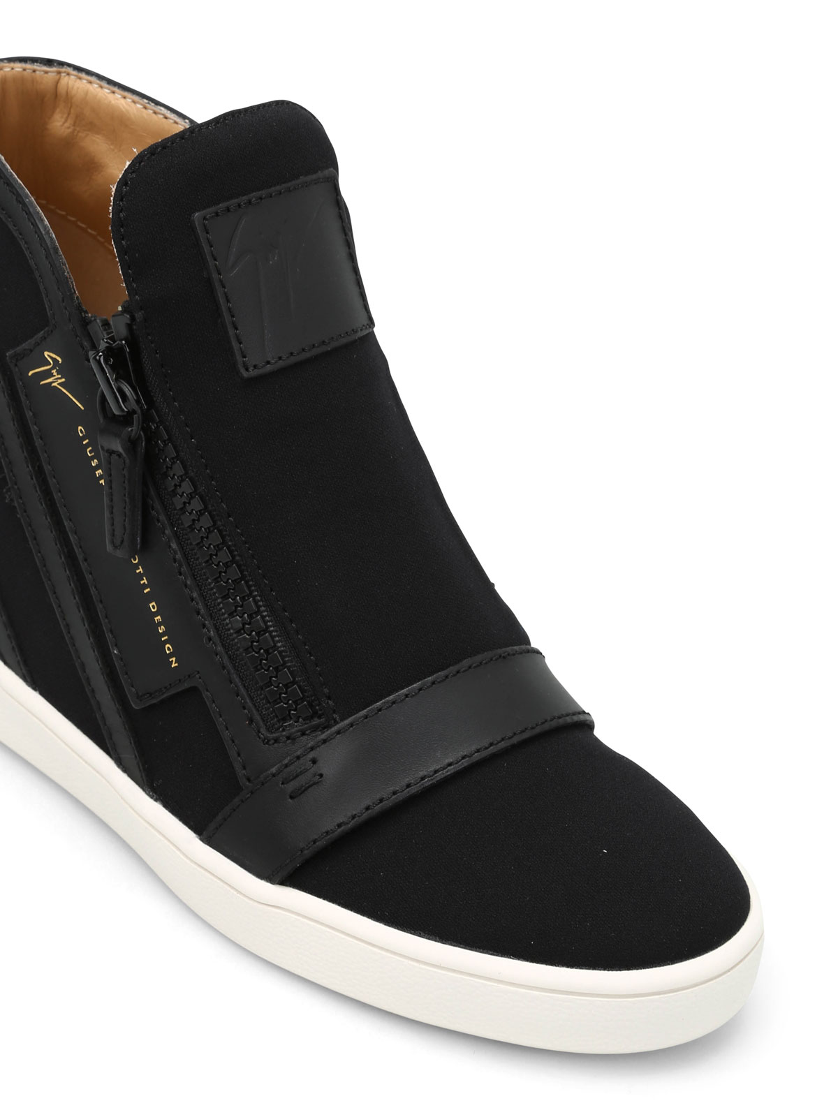 online store 888d3 4d777 Giuseppe Zanotti - Sneaker con rialzo interno in pelle ...