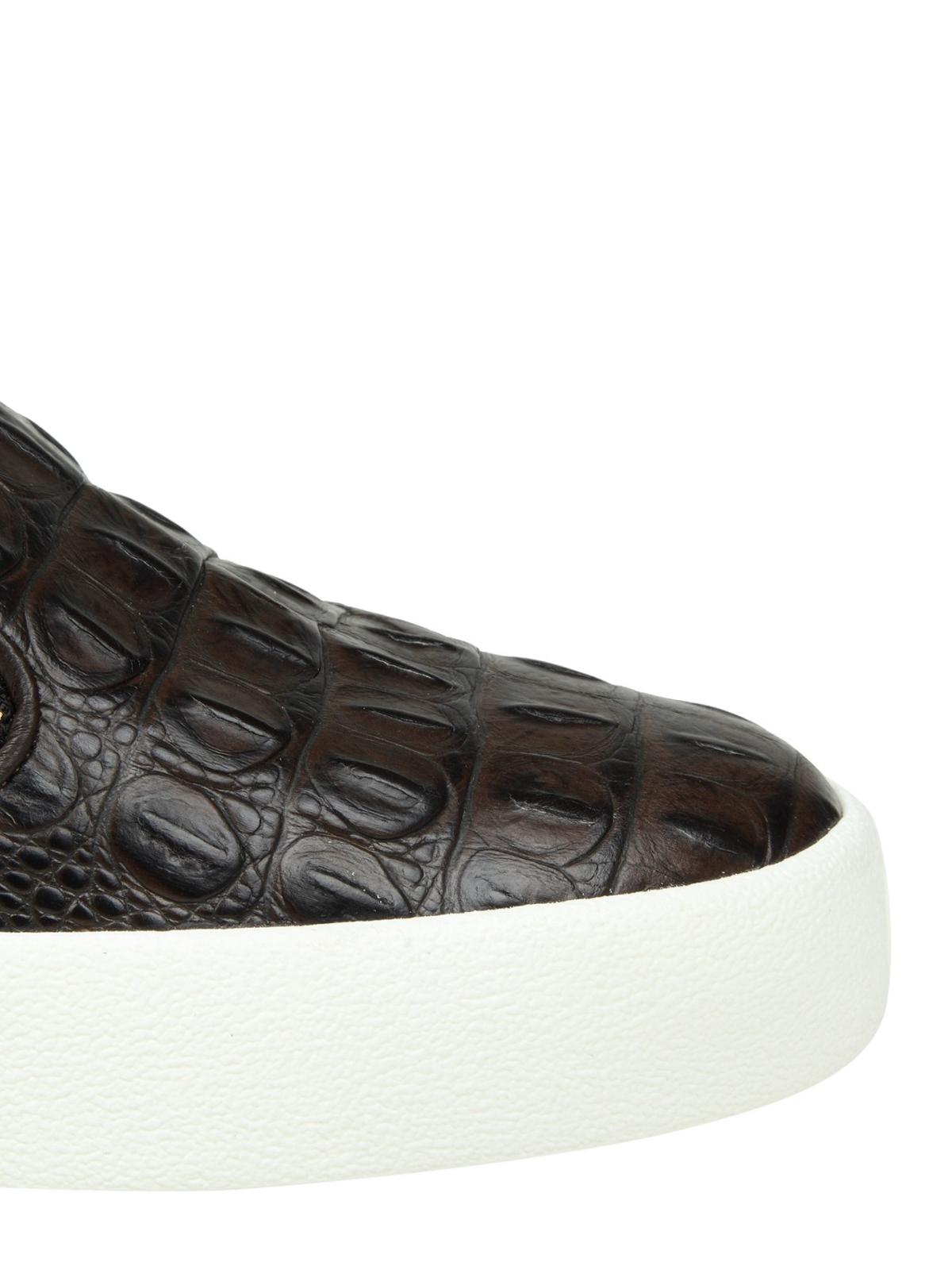 d2f4c4b545866 iKRIX GIUSEPPE ZANOTTI: trainers - May London croco print slip-ons