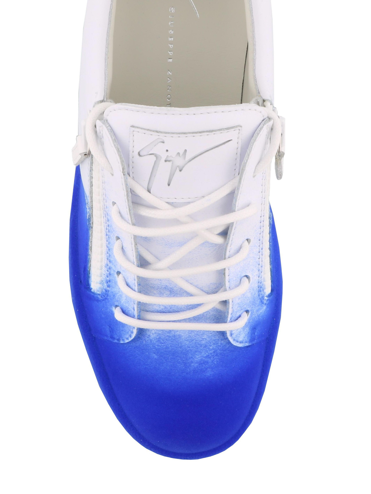 1c727e93372f5 iKRIX GIUSEPPE ZANOTTI: trainers - New Unfinished blue coated sneakers