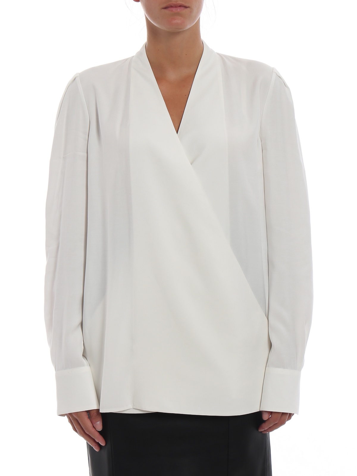 Givenchy Long Sleeve Wrap Blouse Blouses Bw60ce112p101 Ikrix Com