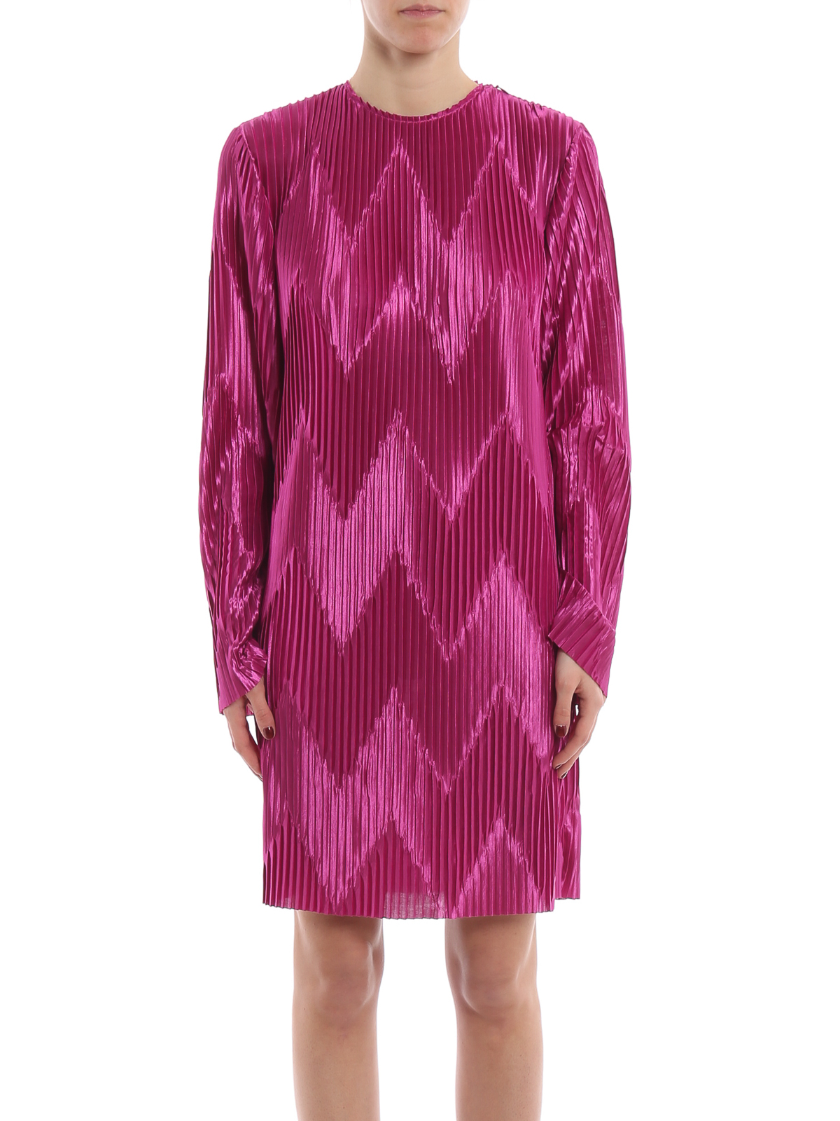 iKRIX GIVENCHY  cocktail dresses - Orchid purple chevron pleated jersey  dress 8b809e7453a5c