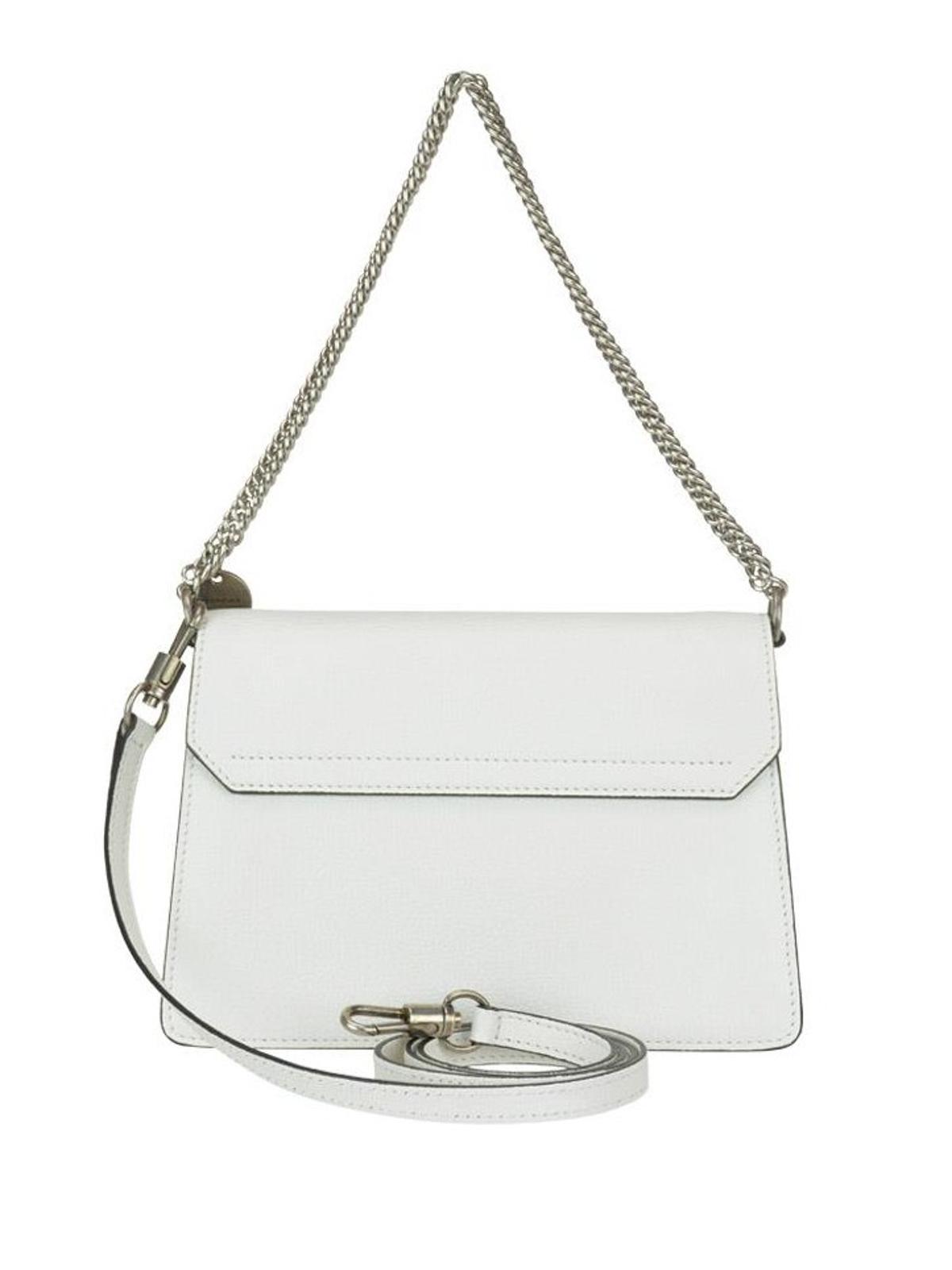 iKRIX GIVENCHY  cross body bags - GV3 white grainy leather small cross body  bag 5ba539b4ec372