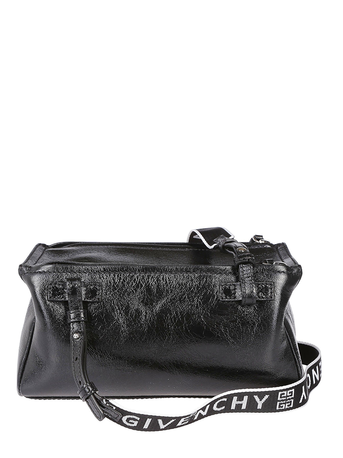 iKRIX GIVENCHY  cross body bags - Pandora Mini black crackle patent bag a1d7b92d3f10f