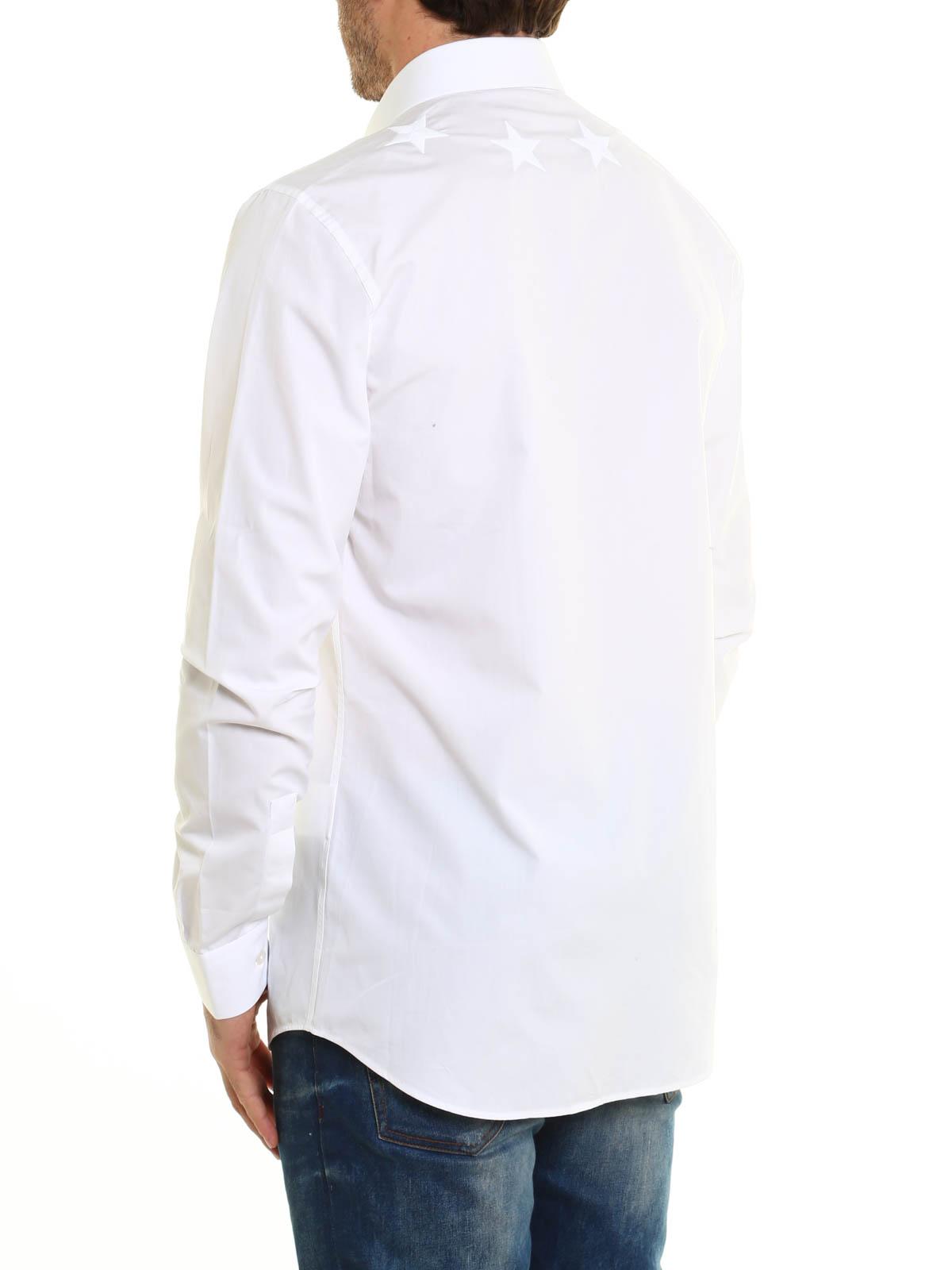 Blanca 17s6061300 Camisas Camisa 100 Para Givenchy Hombre fbgyY67