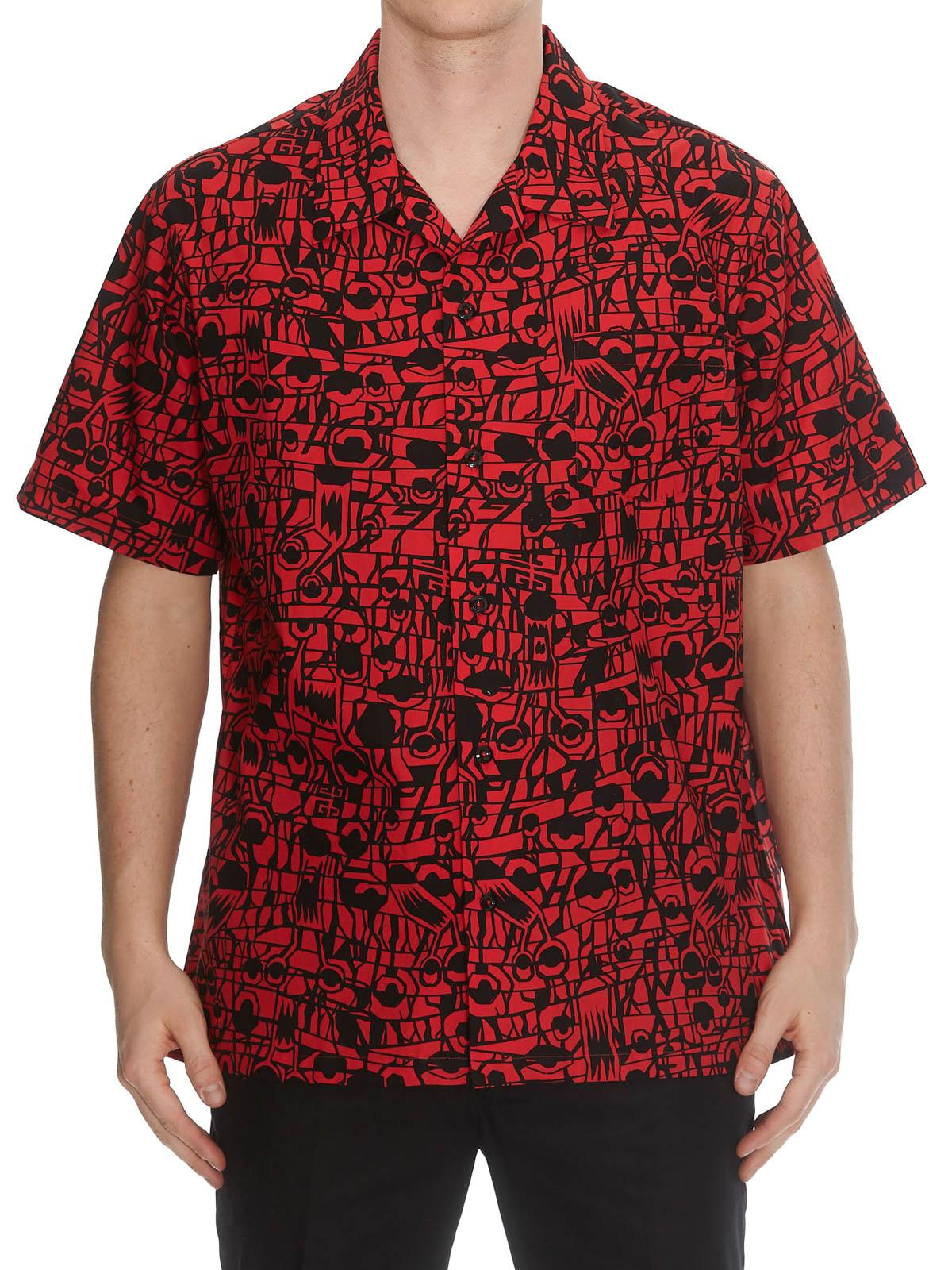 3843151e iKRIX GIVENCHY: shirts - Monster printed cotton Hawaiian shirt