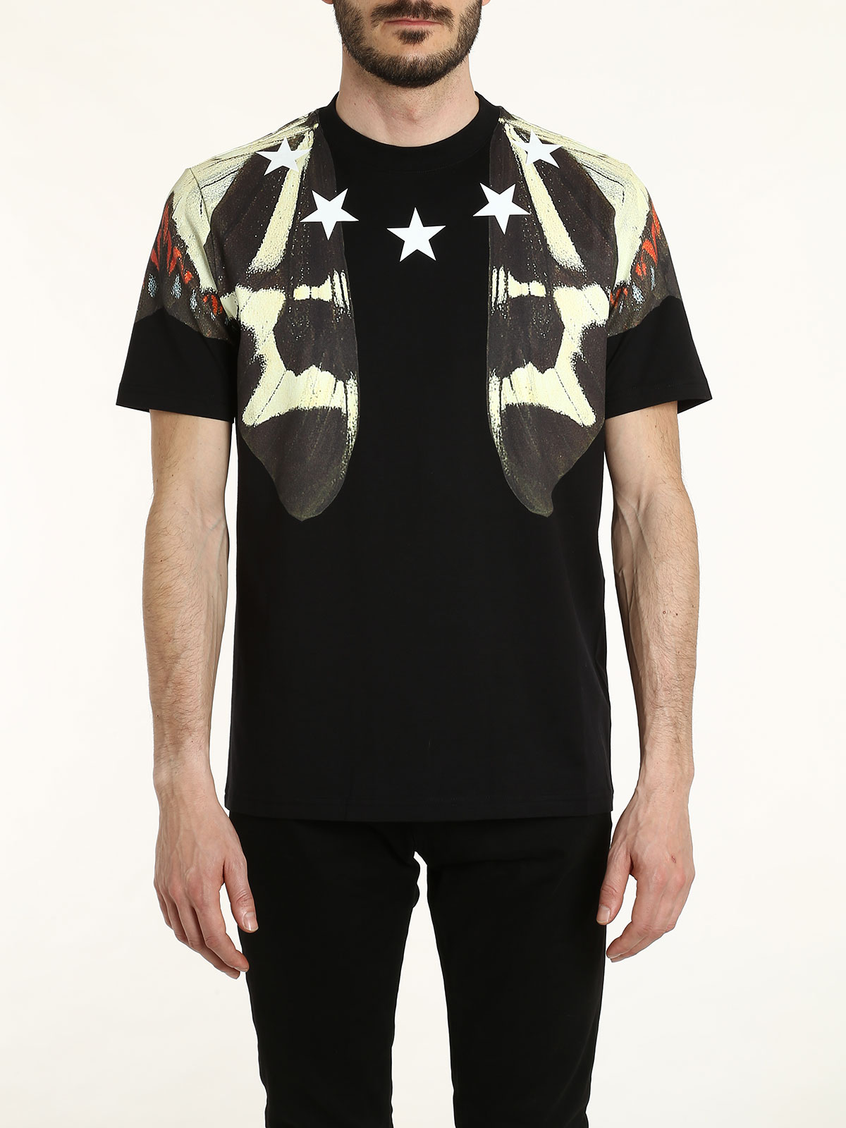Butterfly and star printed t shirt by givenchy t shirts for Givenchy 5 star shirt