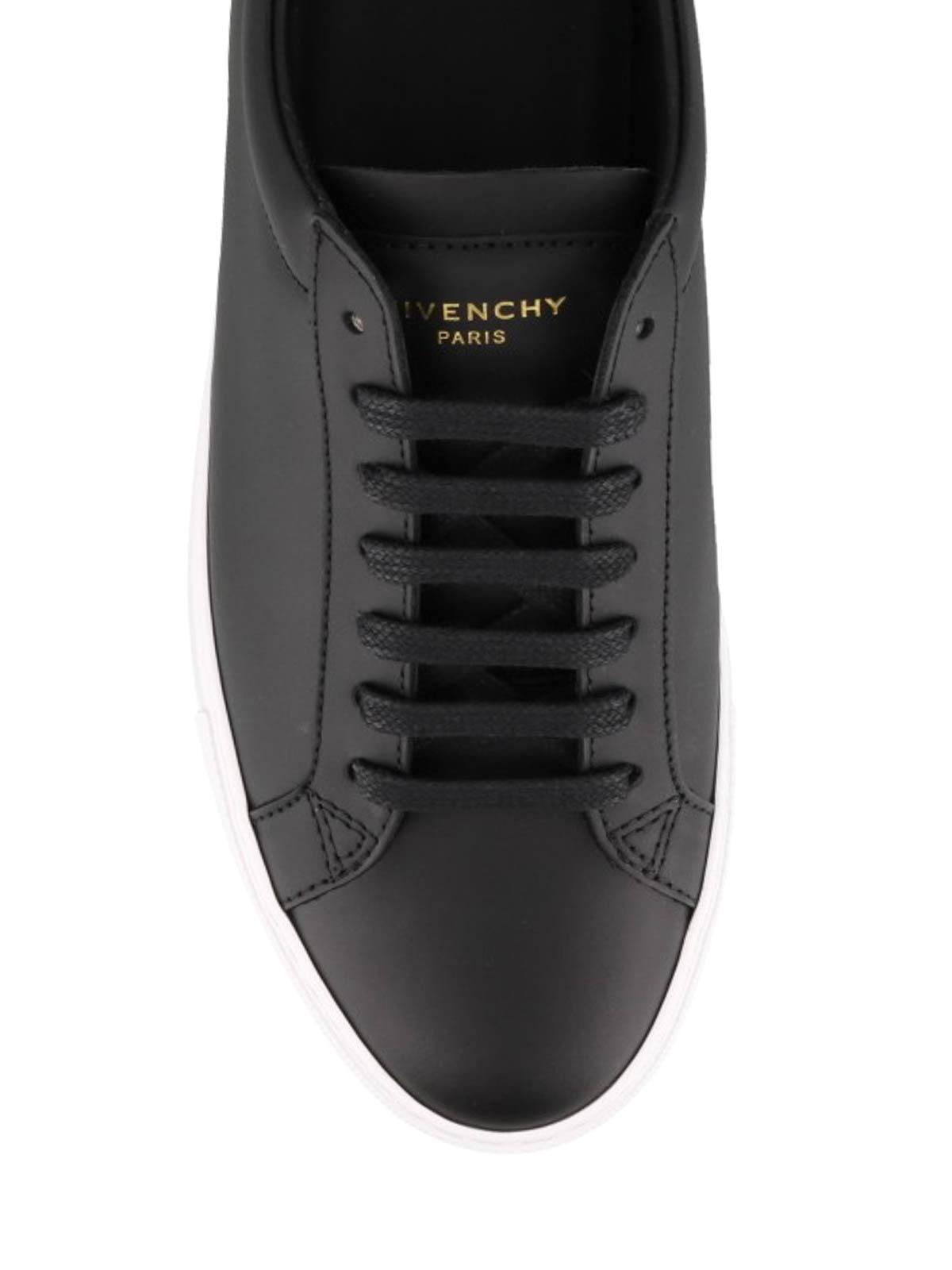Urban Street black leather sneakers
