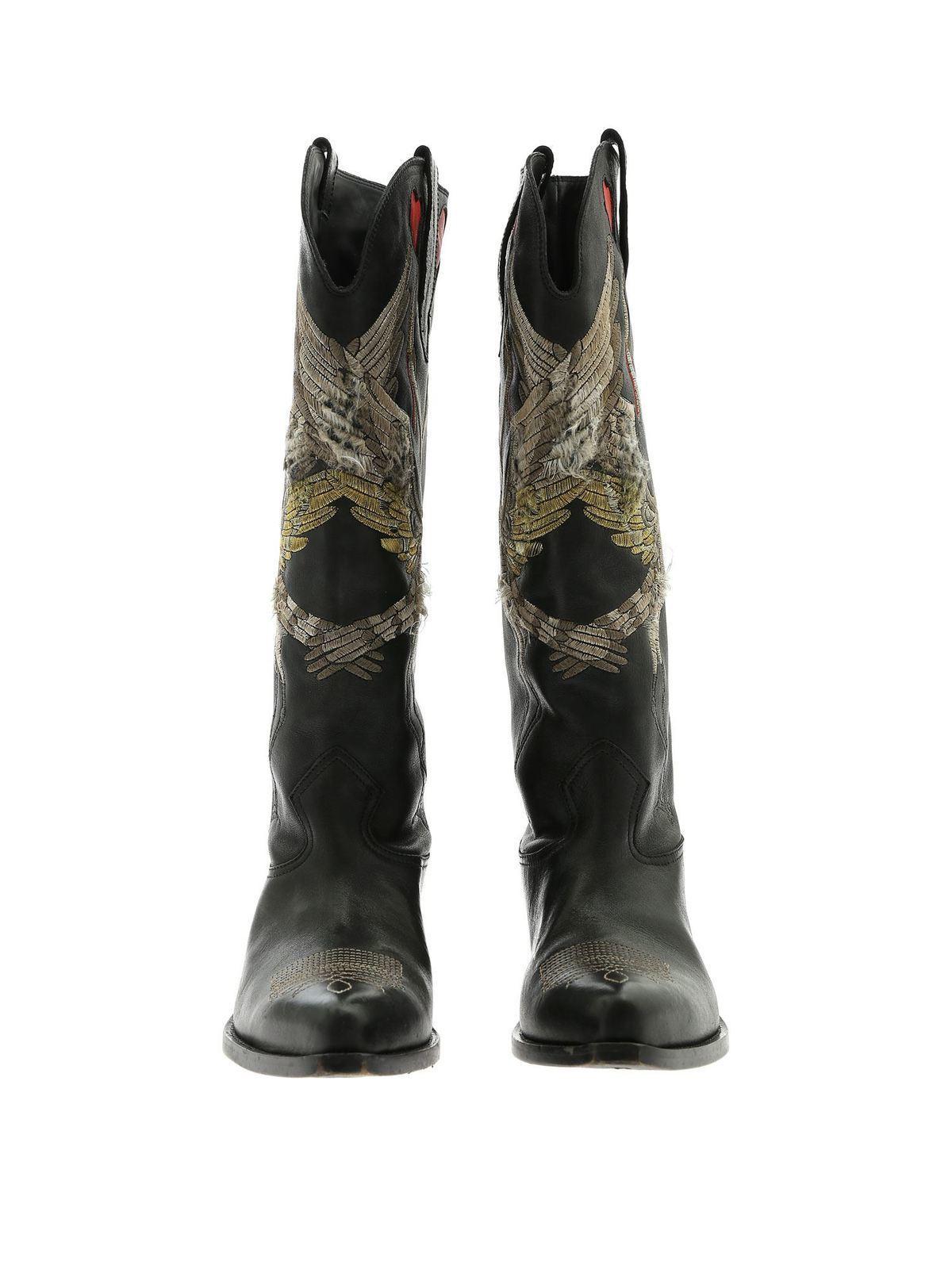 Golden Goose - Wish Star texan boots in