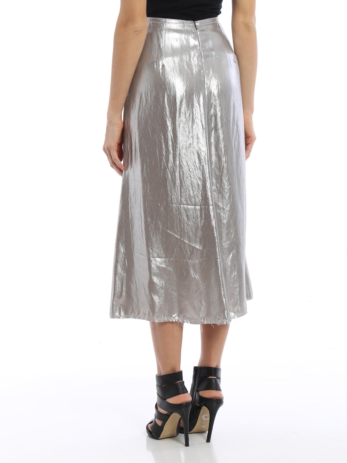 bed13714d iKRIX GOLDEN GOOSE: Knee length skirts & Midi - Shimmering slip skirt