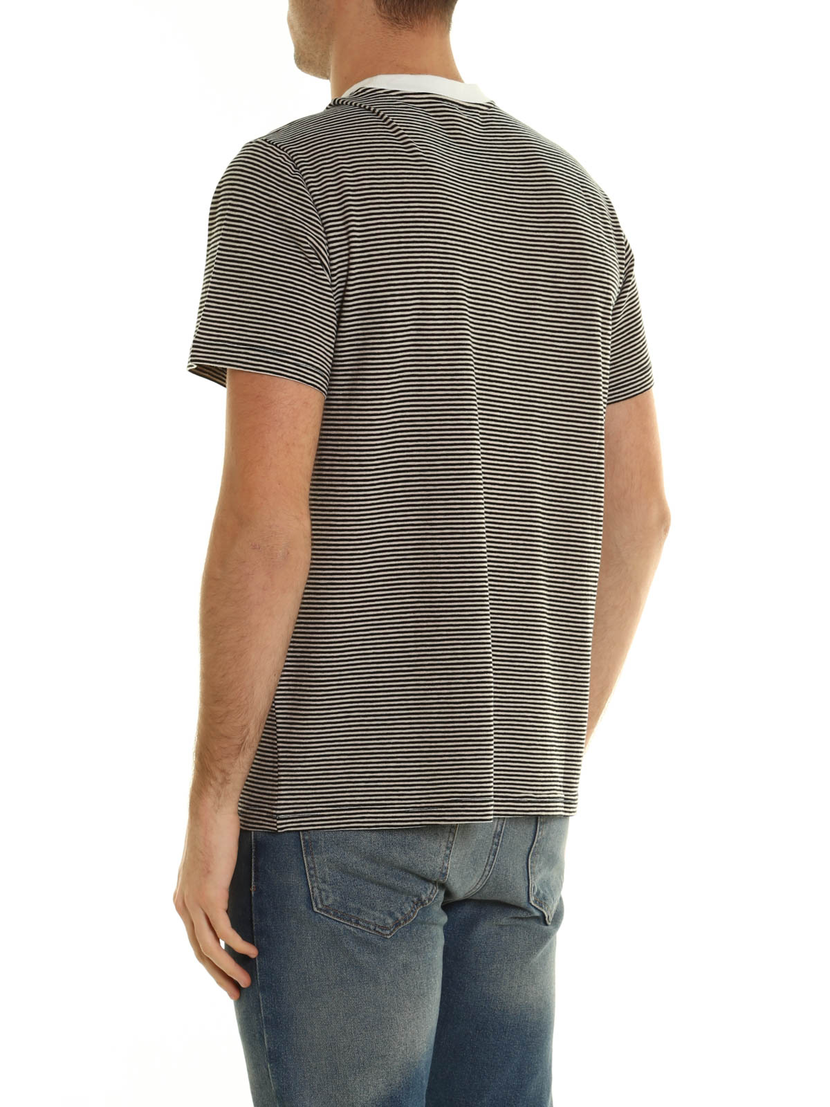 striped cotton t shirt by golden goose t shirts ikrix