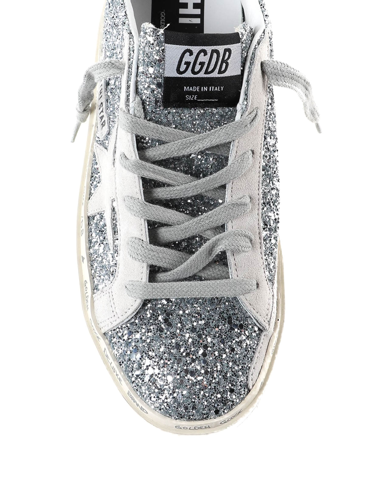 Golden Goose - Hi Star silver glitter