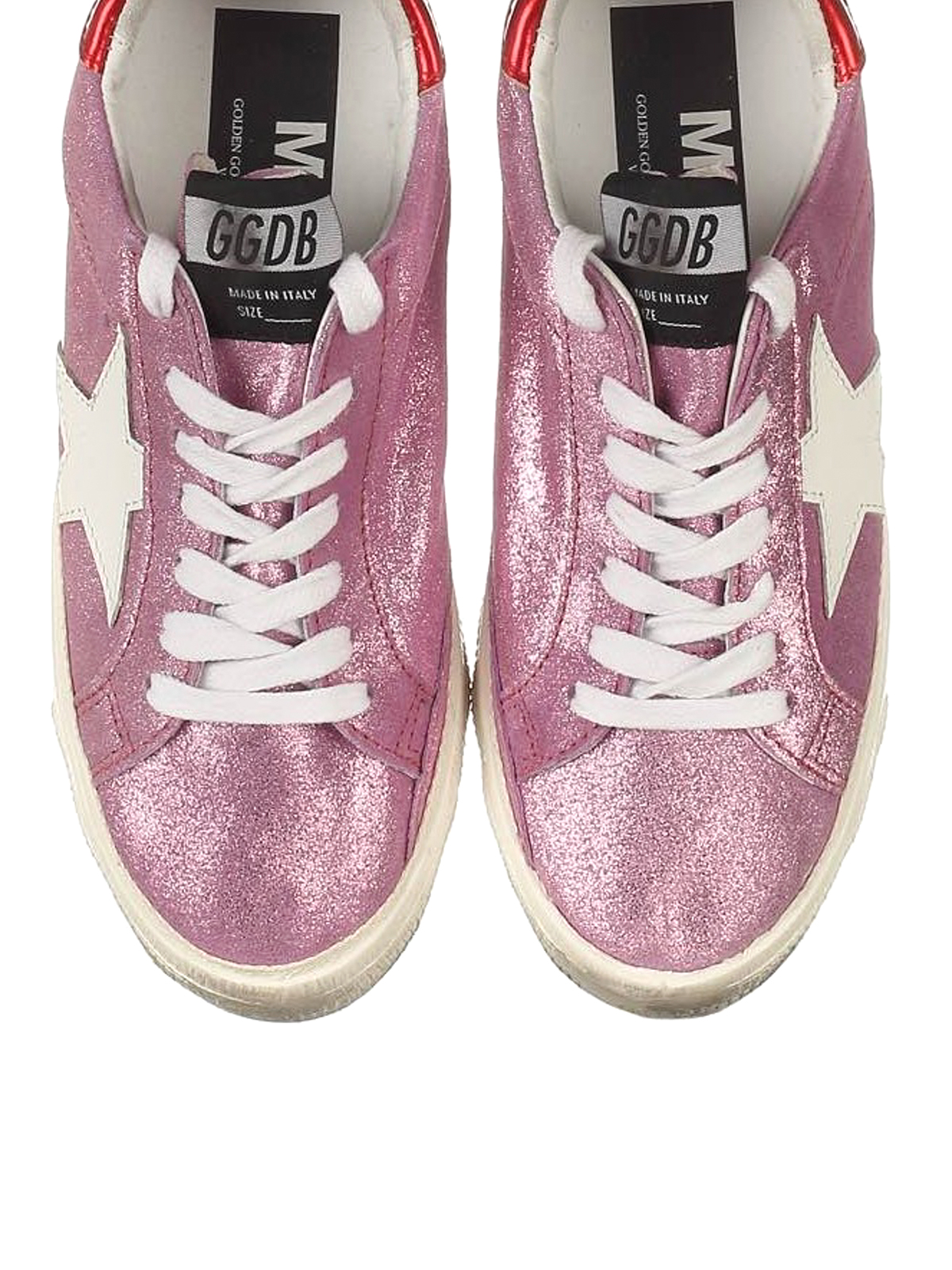 409a631c3821b Golden Goose - May glittered leather sneakers - trainers - G32WS127I7