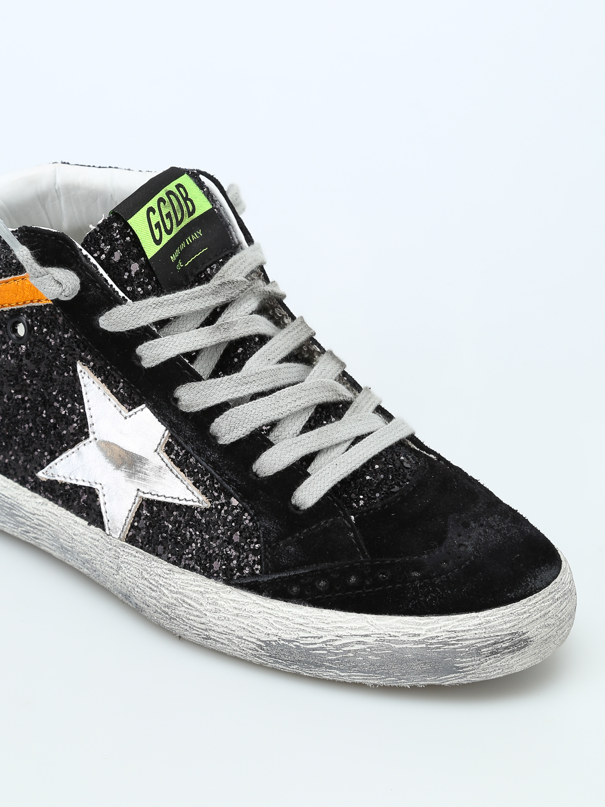 Golden Goose Mid Star Glittered Leather High Top