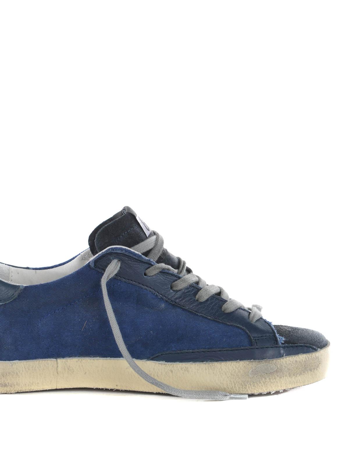 super star denim sneakers by golden goose trainers ikrix. Black Bedroom Furniture Sets. Home Design Ideas