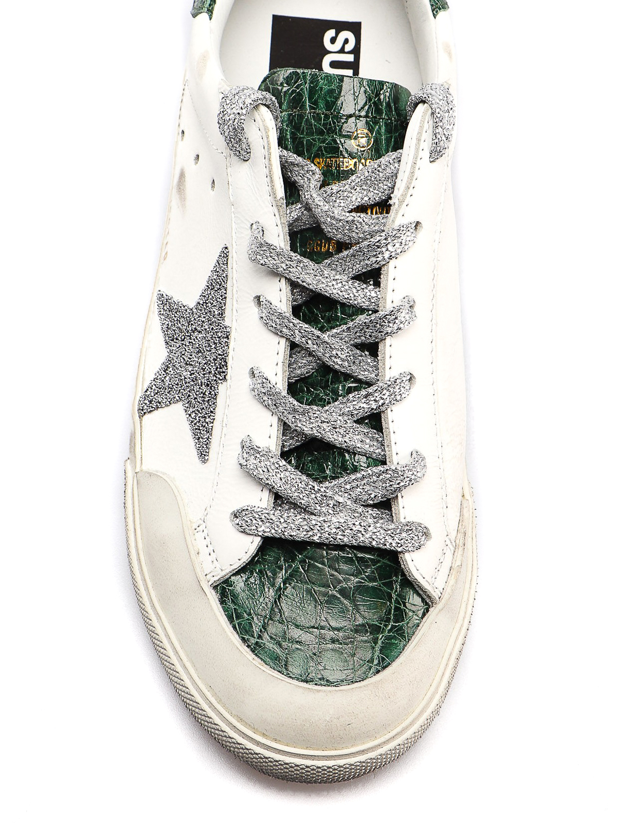 plus récent f17b3 f2d12 Golden Goose - Superstar croco print detailed sneakers ...