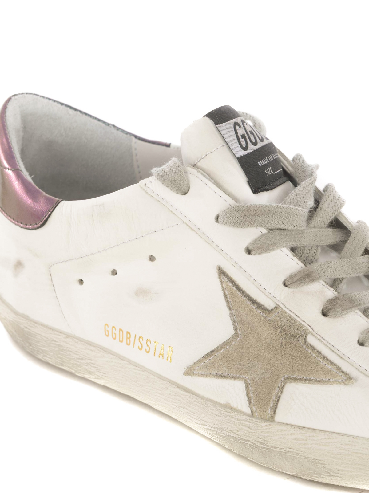 Superstar iridescent heel tab sneakers