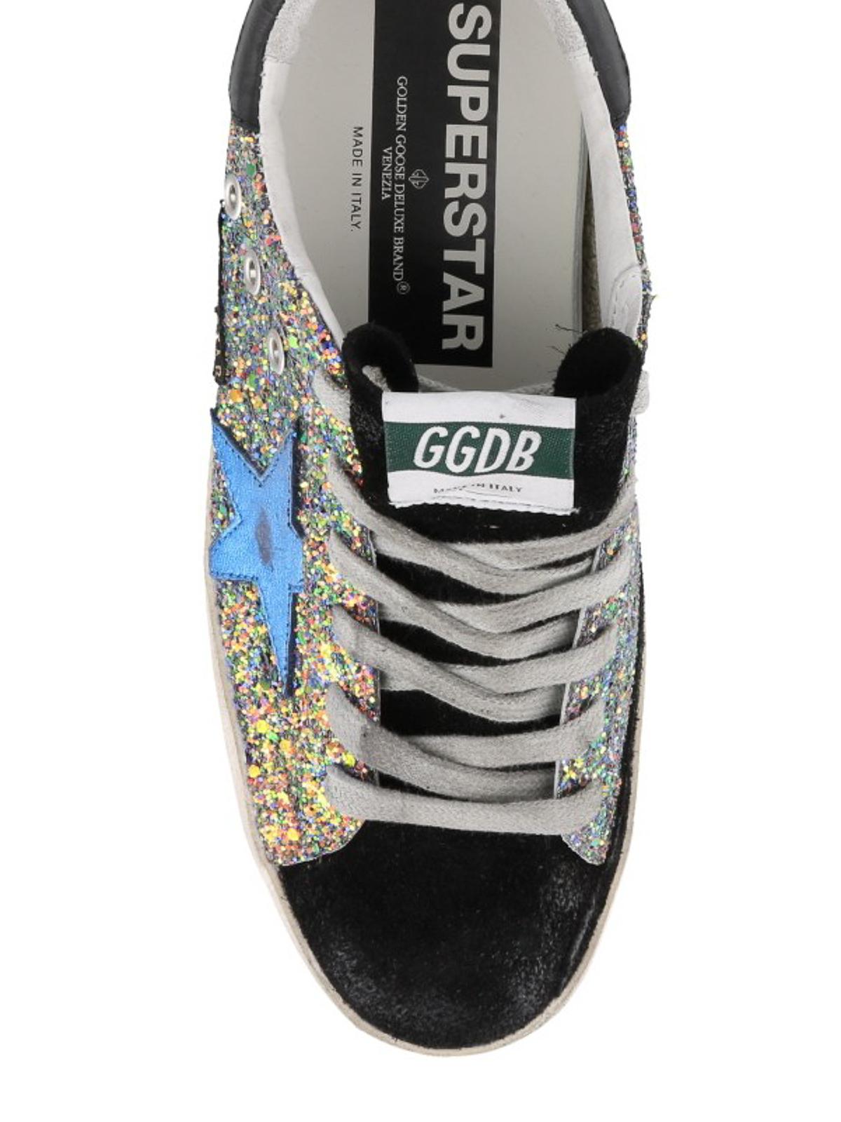 Superstar multicolour glitter sneakers