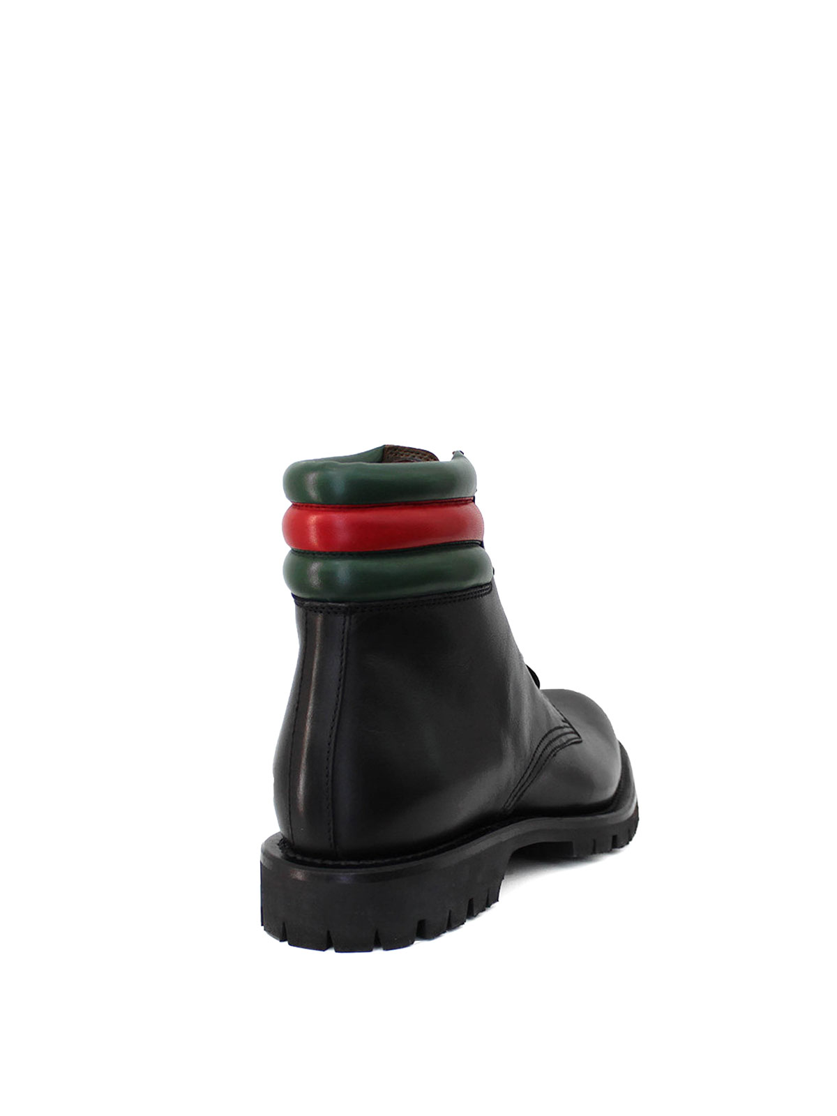 Gucci Web detail military boots 6ctw2rSo