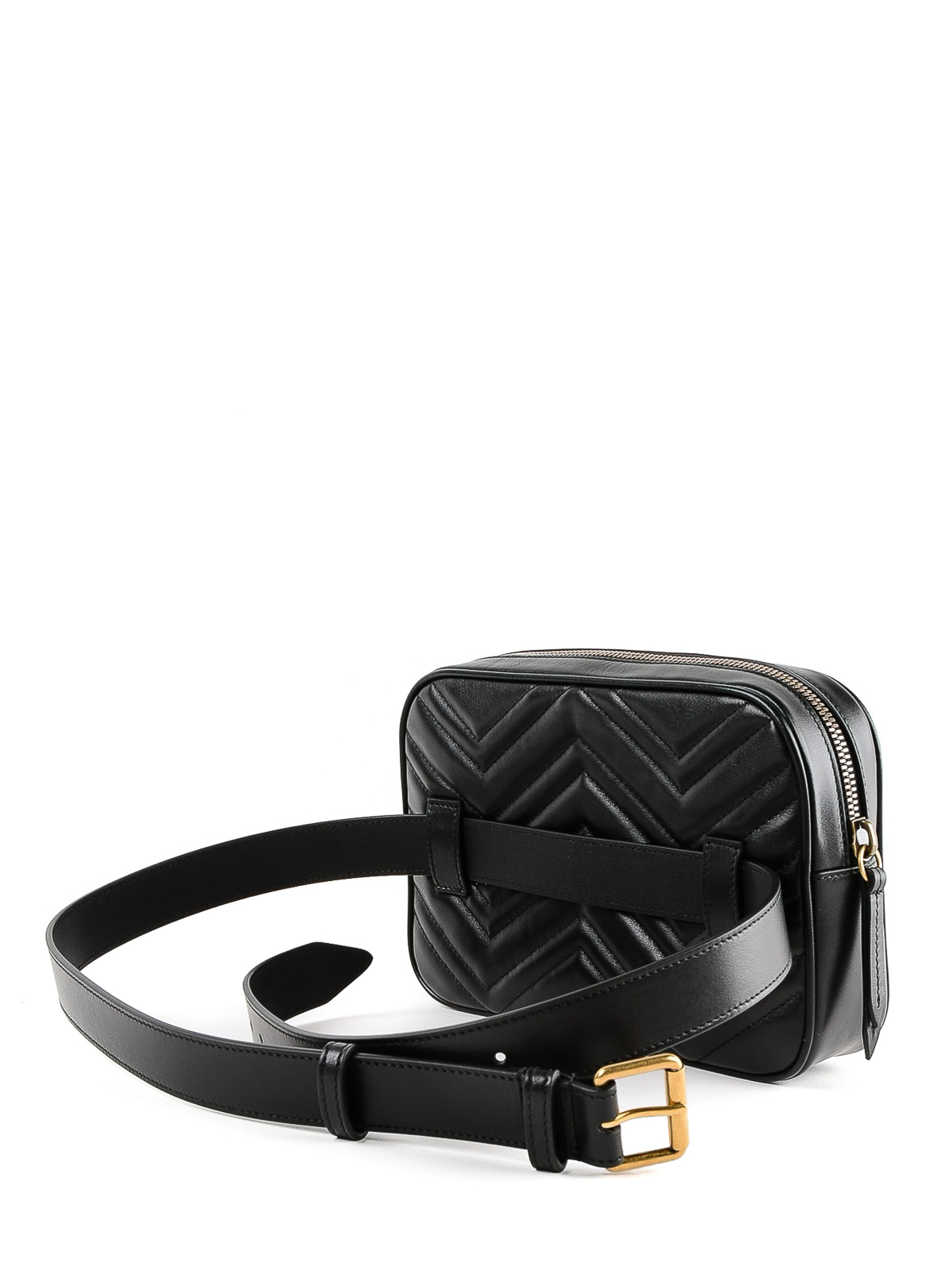 18b1f073b6564a Gucci - GG Marmont black belt bag - belt bags - 523380DTDHT 1000