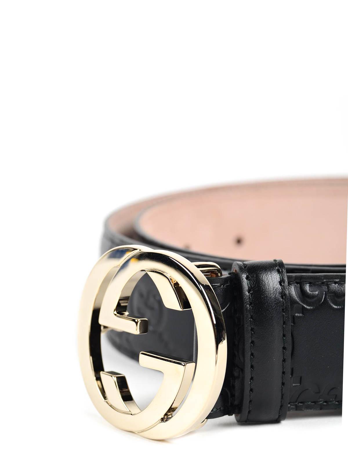 812afd25d Gucci - Embossed leather belt - belts - 370543 CWC1G 1000 | iKRIX.com