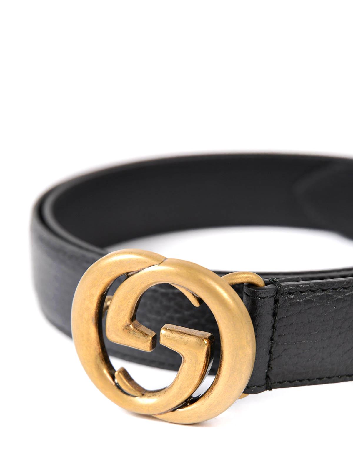 75f4b41e1092d Gucci - GG buckle leather belt - belts - 474345CAO0T1000 | iKRIX.com