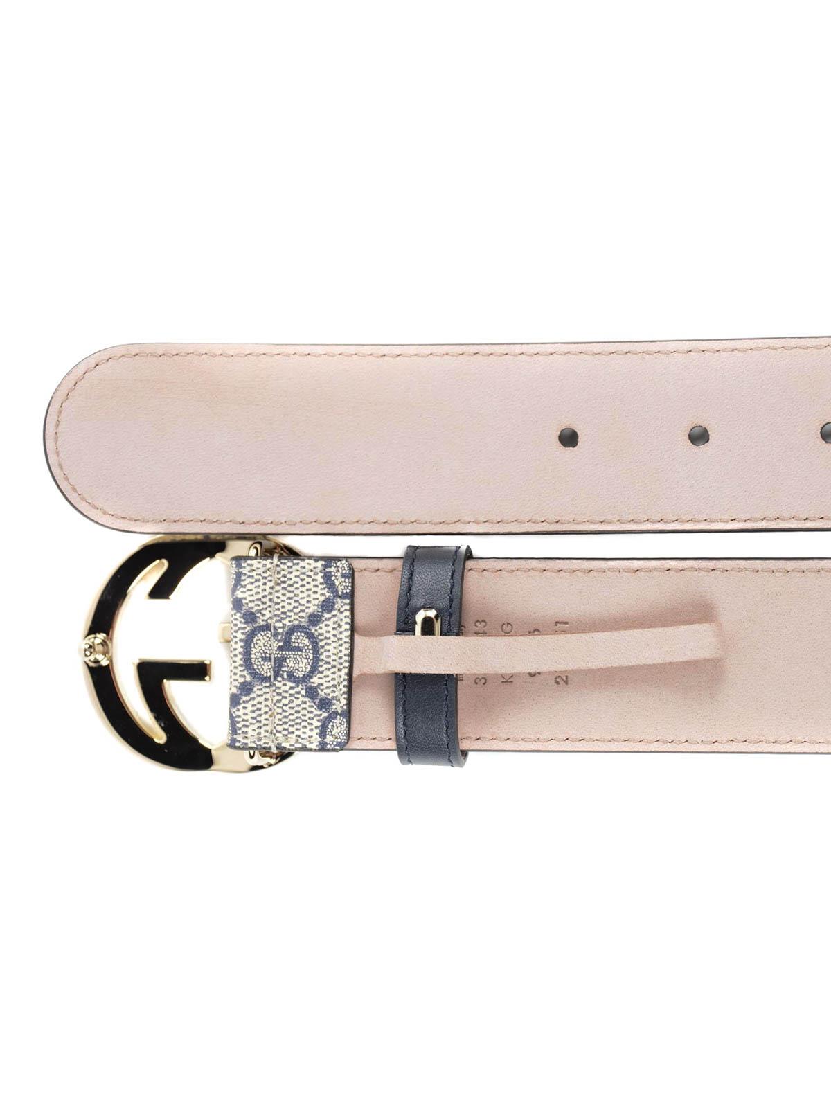 e8c2223ed Gucci - GG Supreme belt - belts - 370543 KGDHG 4075 | Shop online at ...