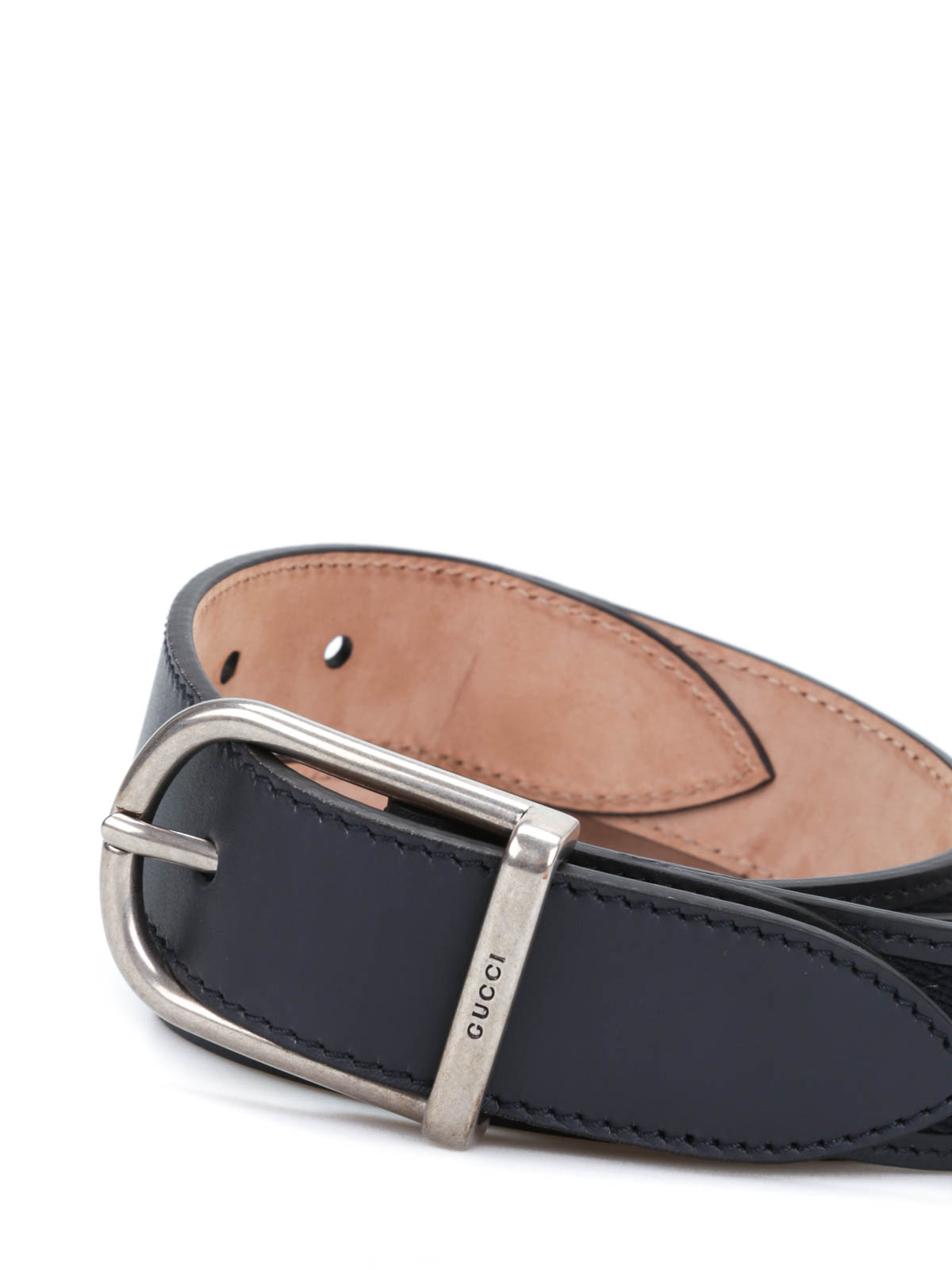 837eaa661 Gucci - Nylon web leather belt with buckle - belts - 368189 BGHUN 8497
