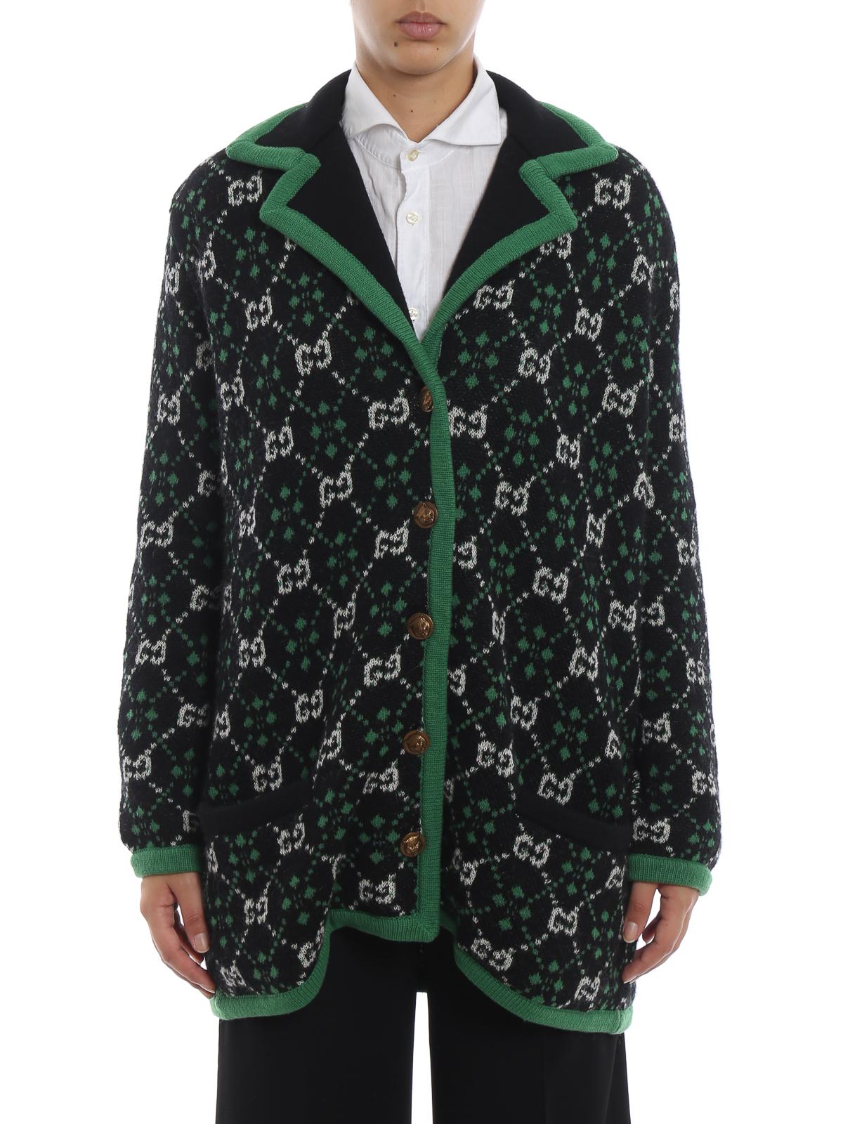 468f1ad7d68 iKRIX GUCCI: cardigans - GG pattern alpaca and wool over cardigan
