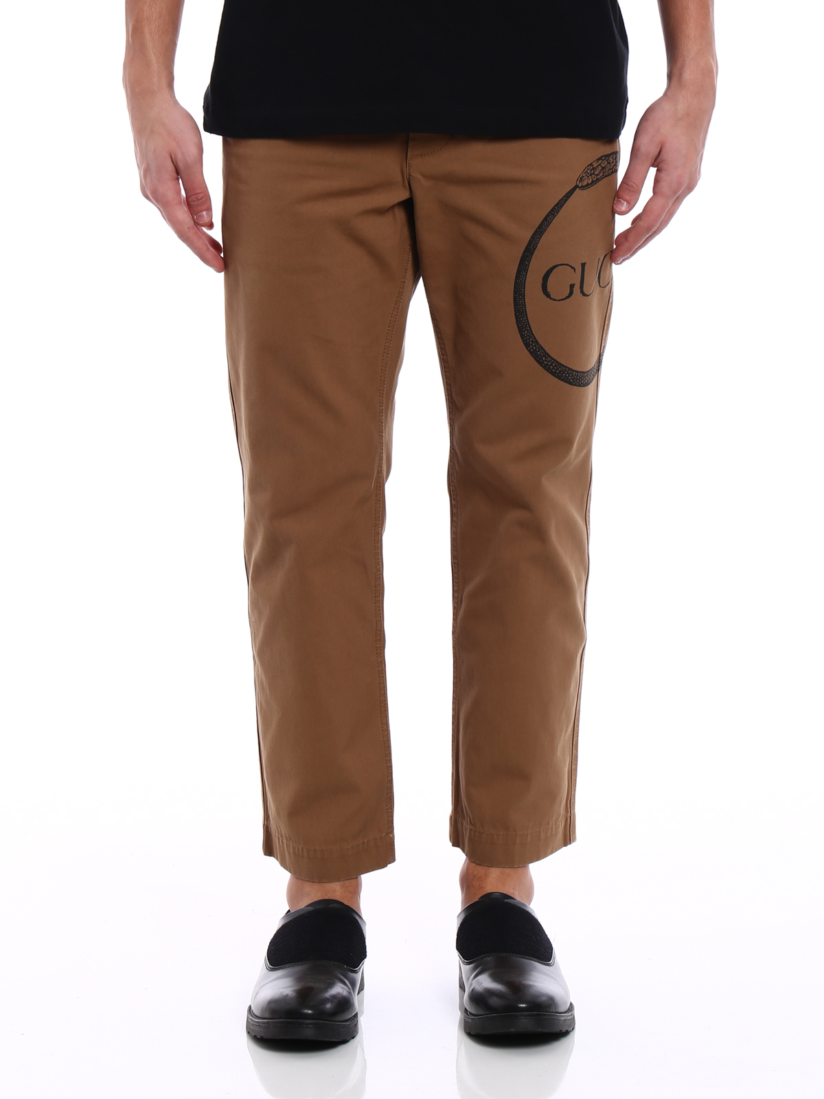 1cc0ddd489a iKRIX GUCCI  casual trousers - Ouroboros print worker chino pants