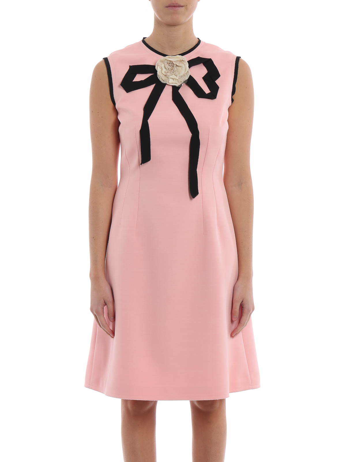 e358e9a57dd5 Gucci - Pink silk and wool pencil dress - cocktail dresses - 549867 ...