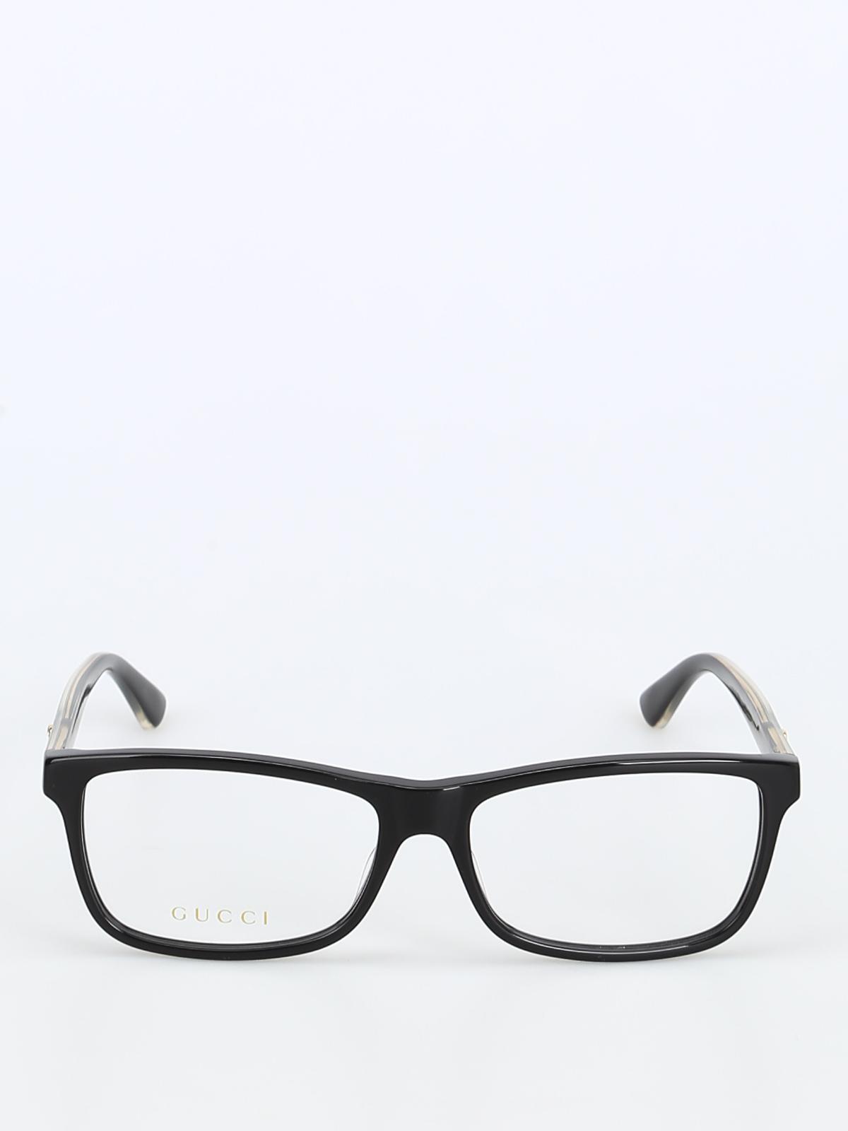 46b39957e889e iKRIX GUCCI  Glasses - Acetate black eyeglasses with golden details