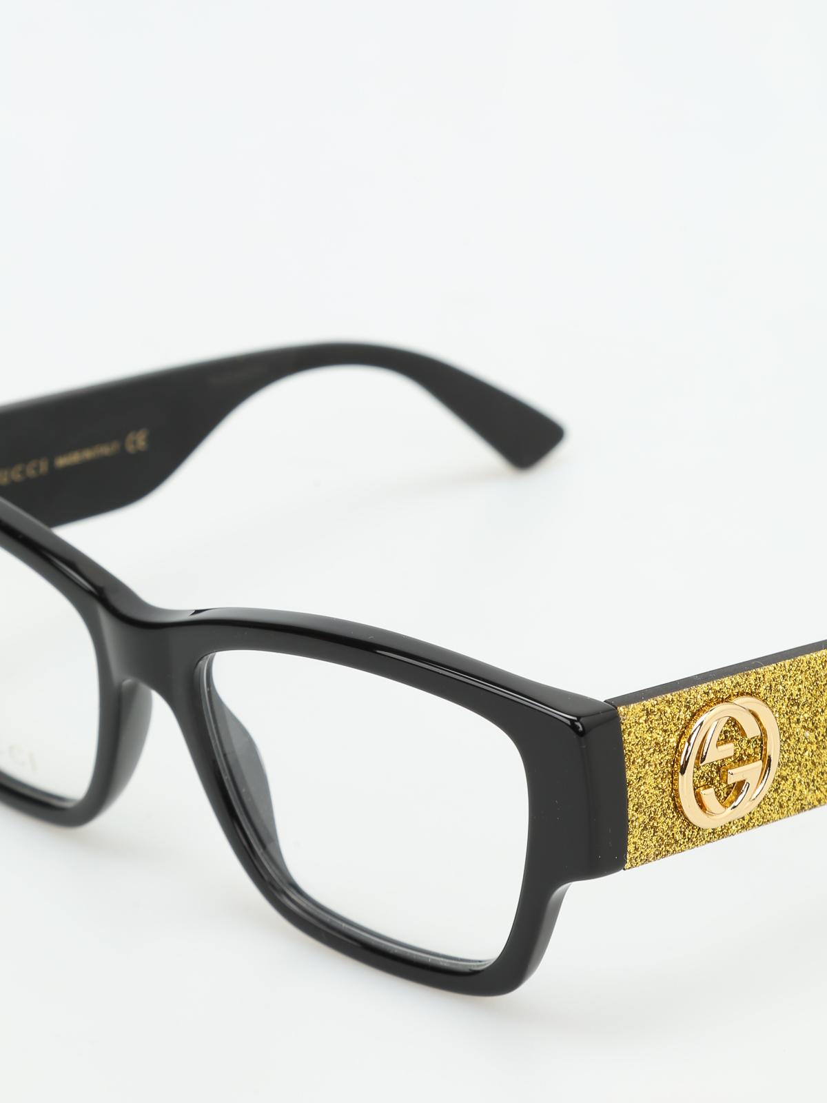 Gucci - Brillen Fur Unisex - Schwarz - Brillen - GG0104O2 | iKRIX.com
