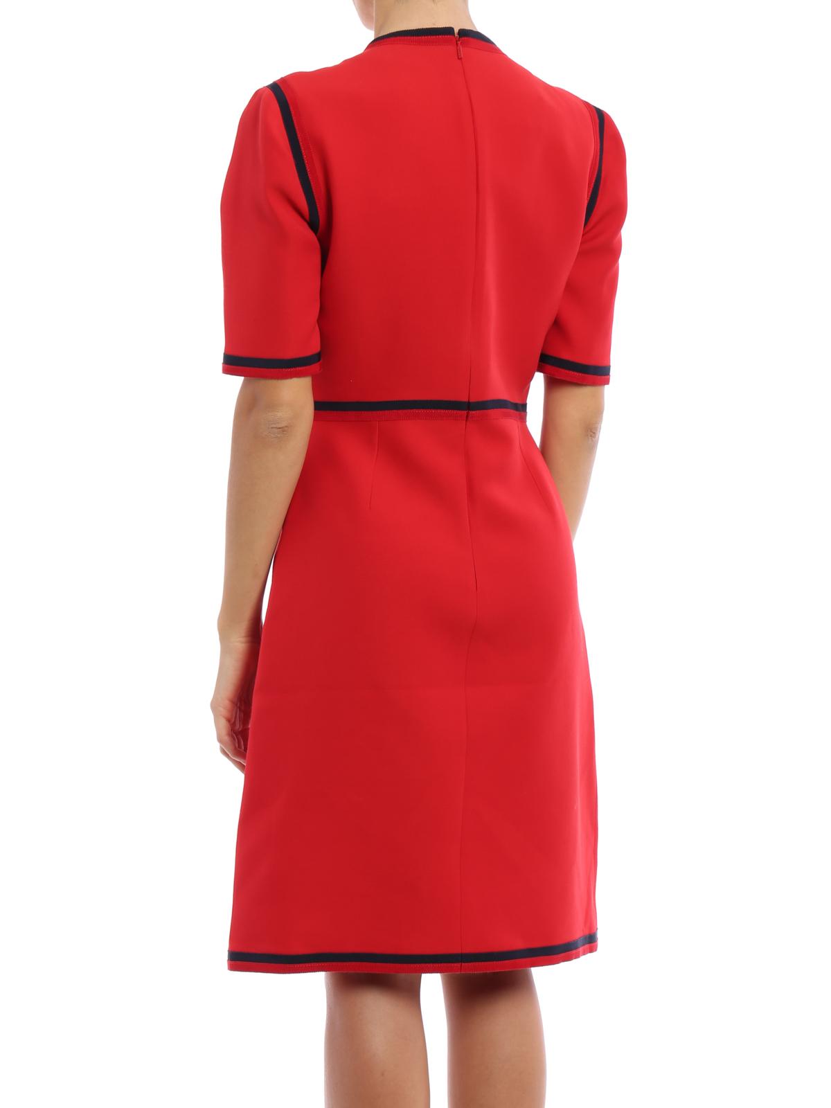 b12b194a95d Gucci - Web wool and silk dress - میدی - 475850 ZHM88 6702 | iKRIX