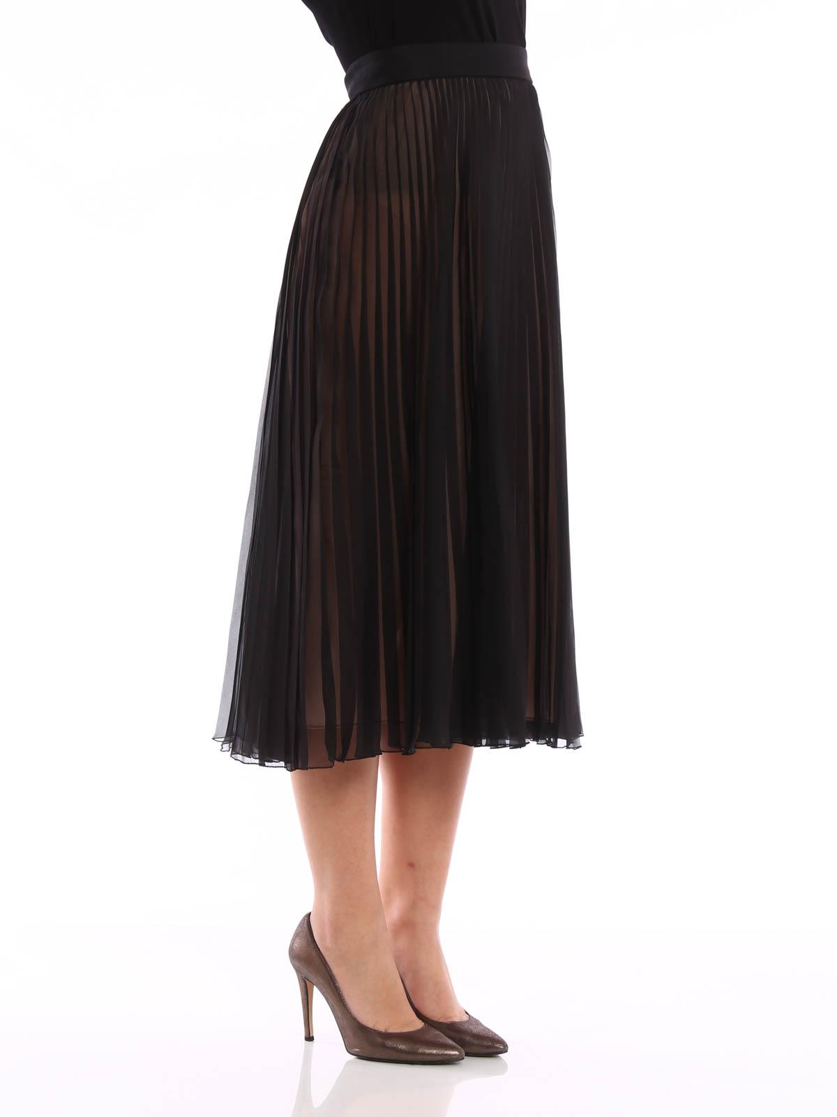 Gucci Pleated Silk Skirt Knee Length Skirts Amp Midi