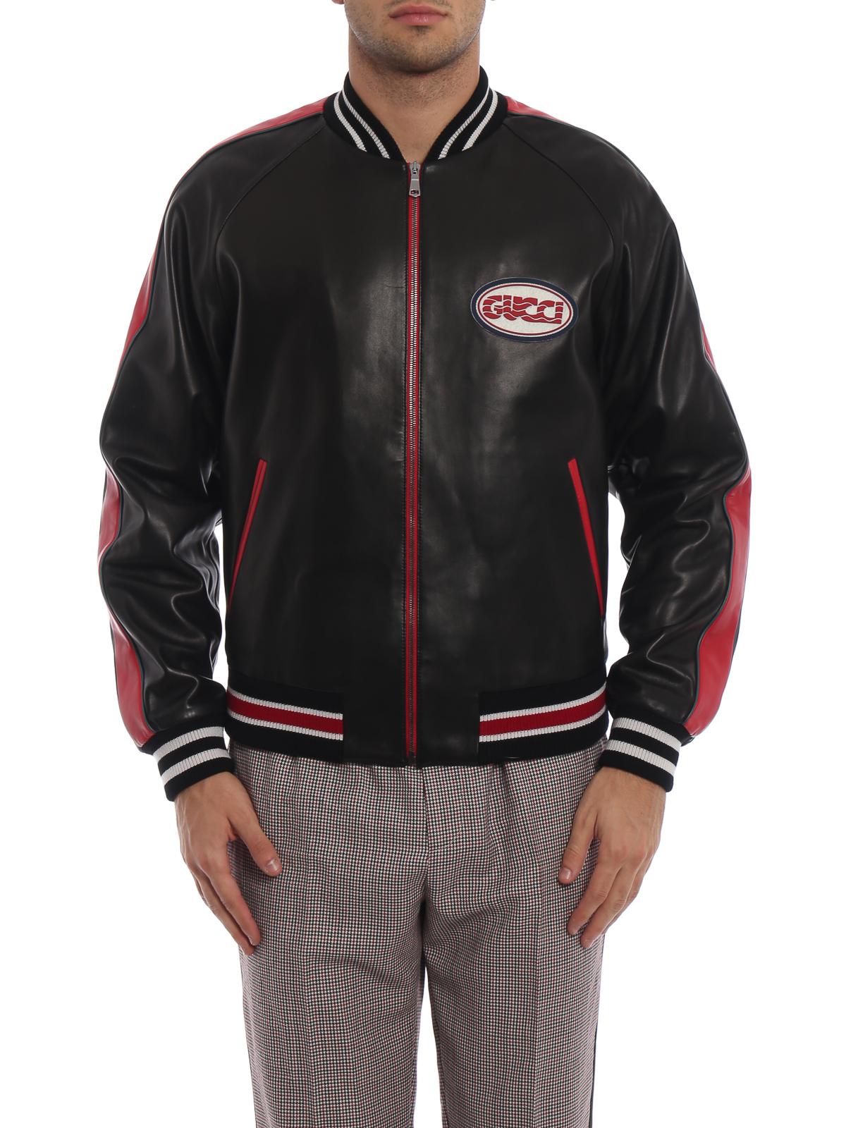 Gucci - Chaqueta De Cuero - Negro - Chaquetas de cuero - 523526XG6491096 dd3fab2068d