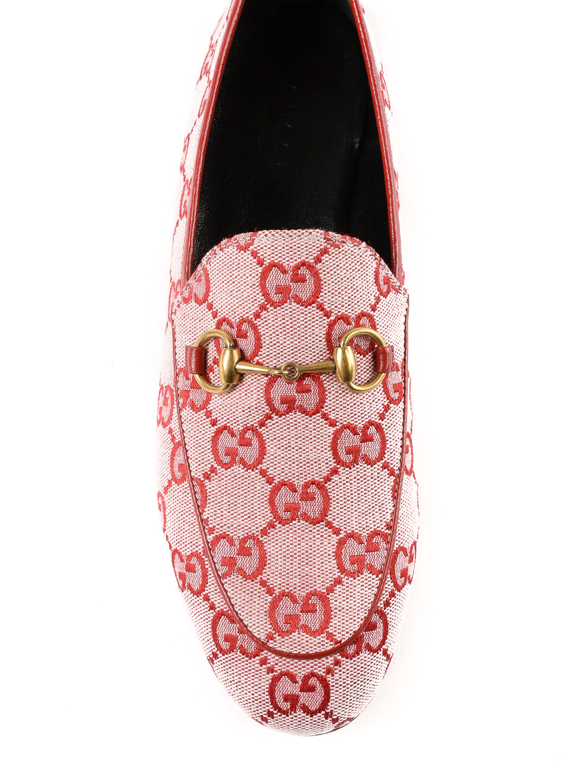 ad58dea71b8b iKRIX GUCCI: Loafers & Slippers - Jordaan GG hibiscus red canvas loafer