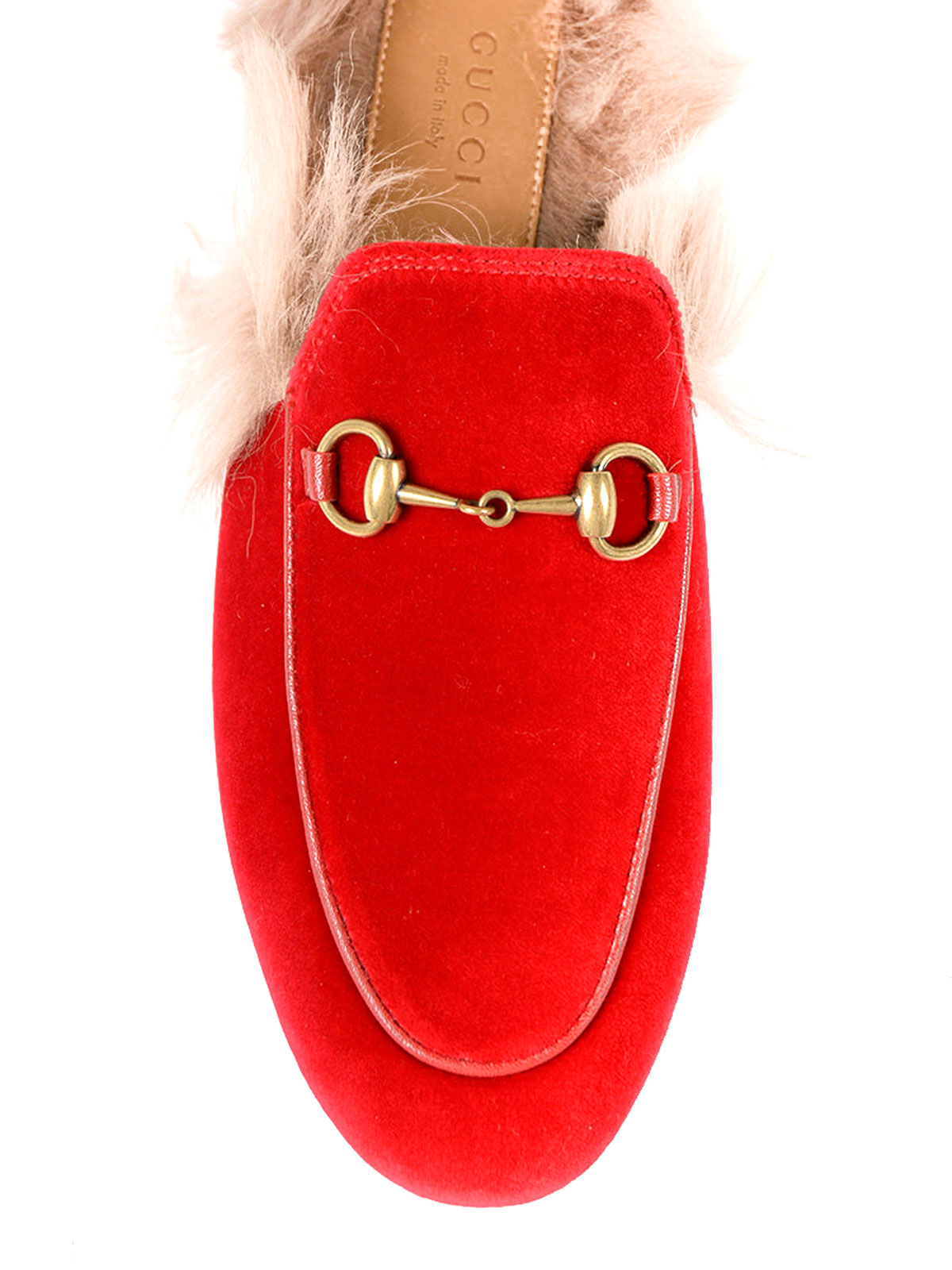 3d7708d9e52 iKRIX GUCCI  Loafers   Slippers - Princetown red velvet slippers