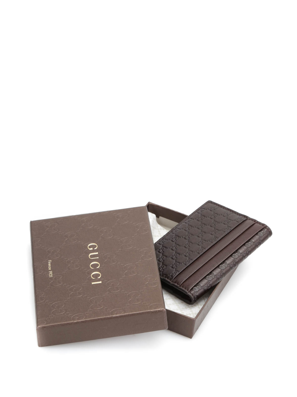 Microguccissima leather card case by Gucci - wallets & purses | iKRIX