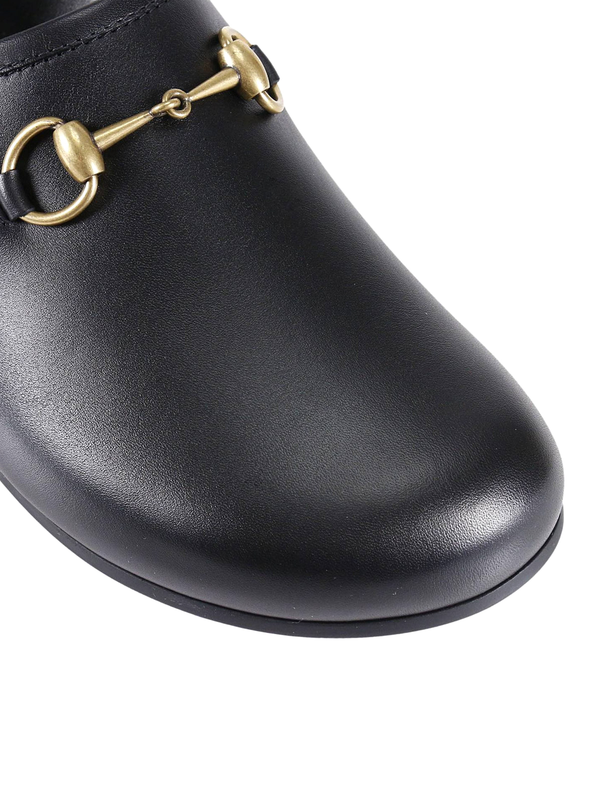 Gucci Horsebit Leather Slippers Mules Shoes 473491
