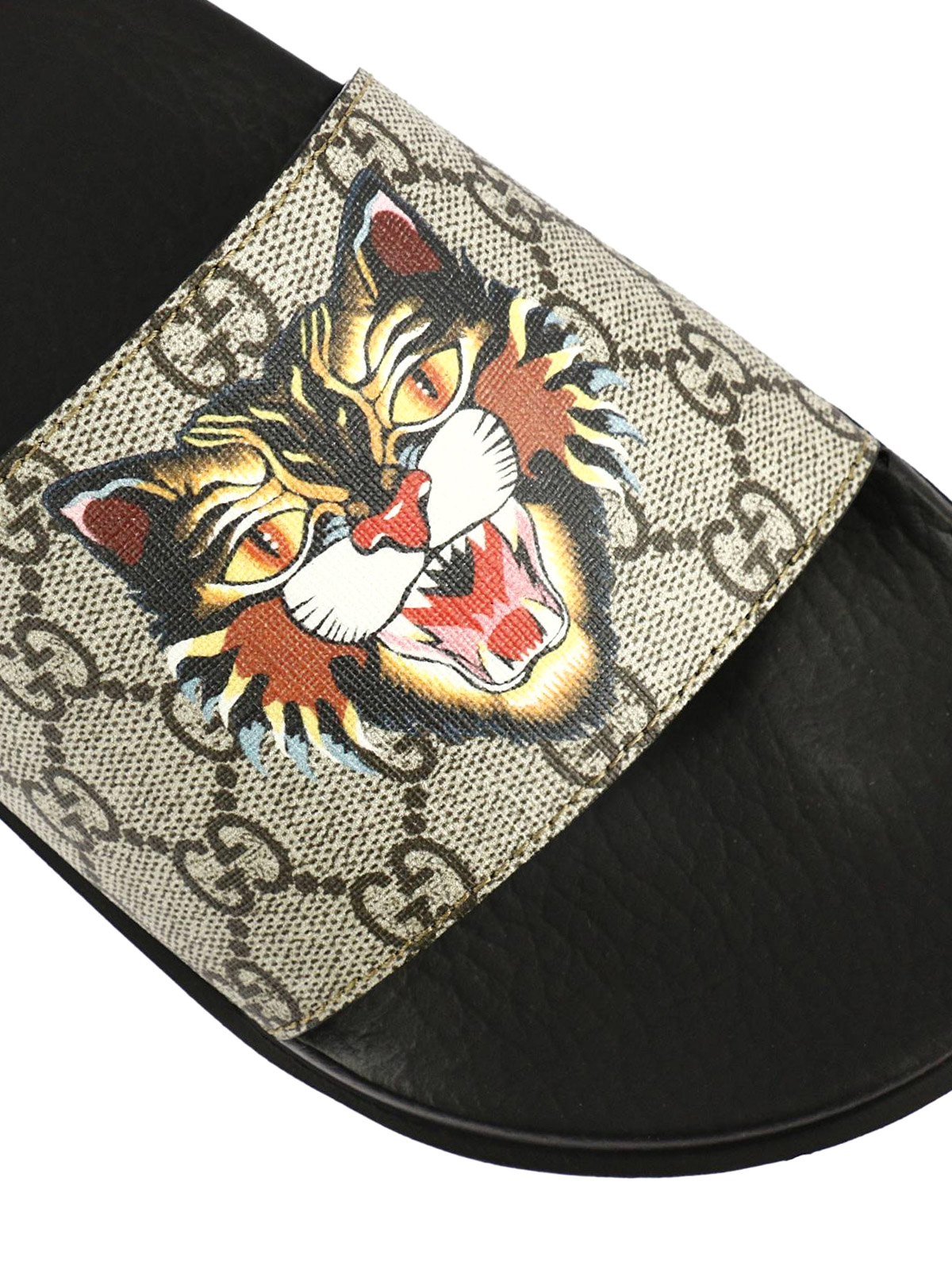 715db8b68fd Gucci - Angry Cat GG supreme slides - sandals - 474282 9A400 8919