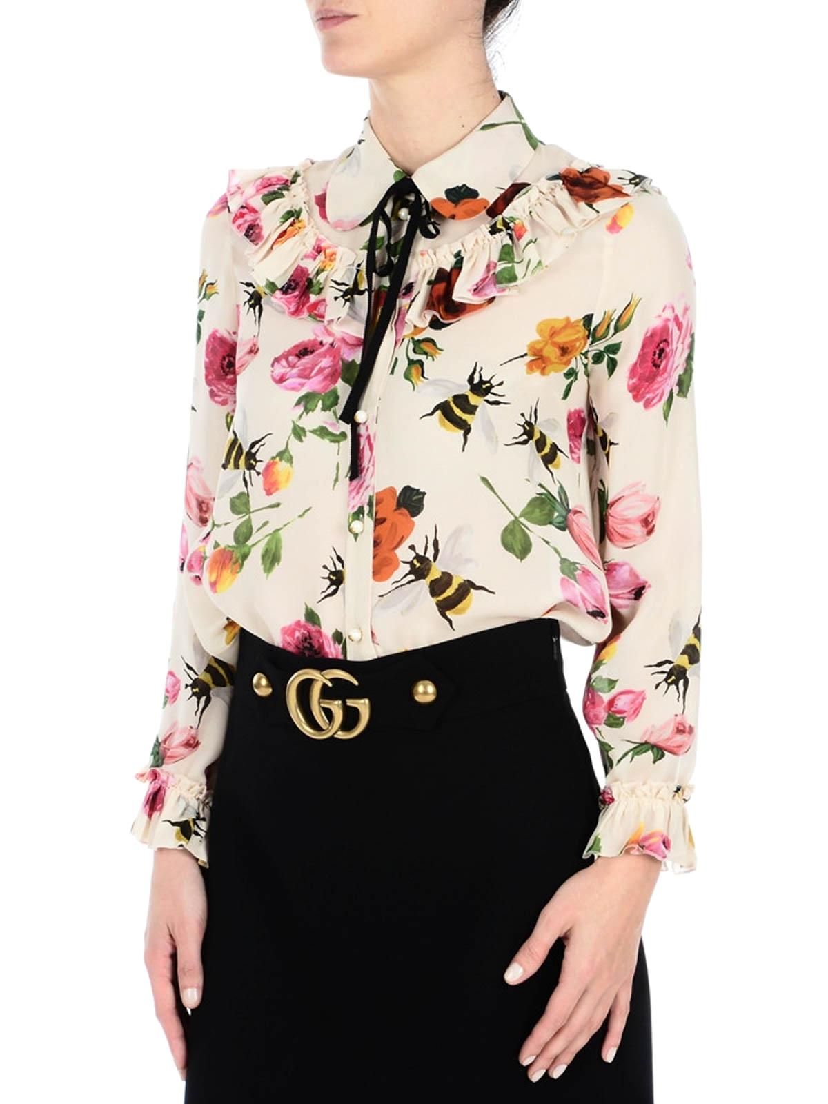 32b51c019 Gucci - Roses print silk georgette shirt - shirts - 423838ZHP319124