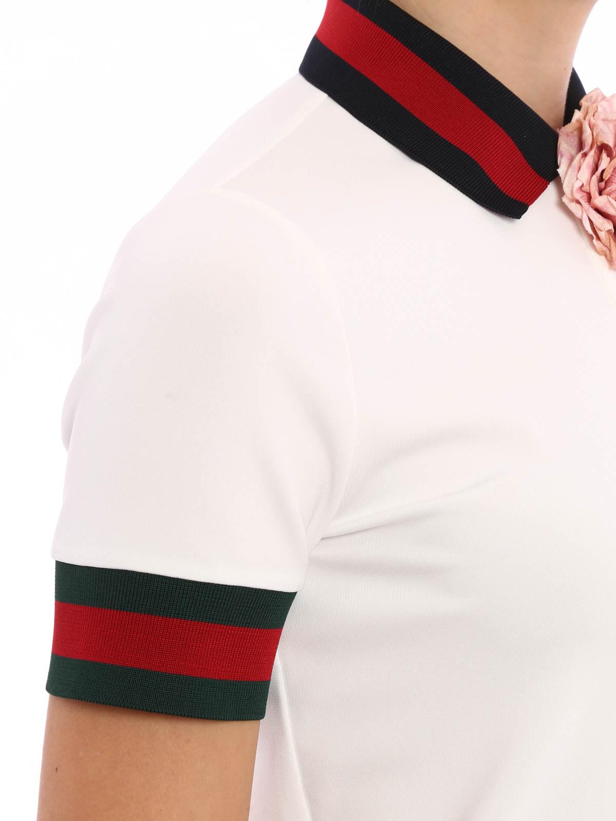 Stretch Viscose Polo Shirt By Gucci Polo Shirts Shop